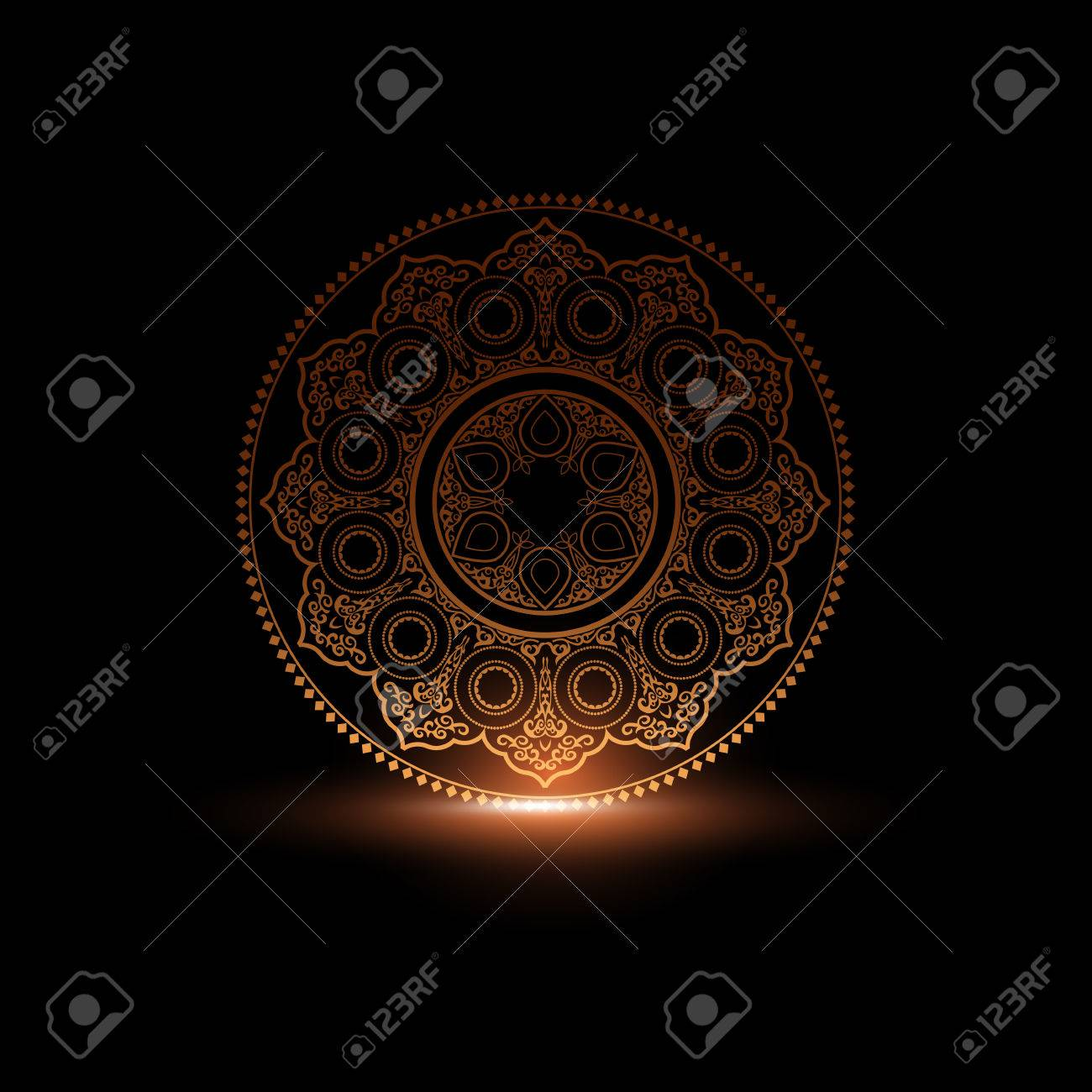 Mystical round ornament pattern with light arabic islamic mystical round ornament pattern with light arabic islamic east style vector illustration kristyandbryce Choice Image