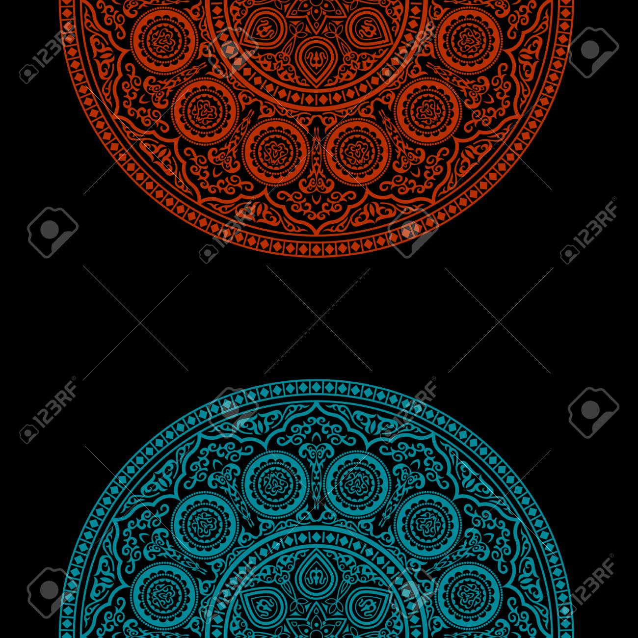 Black background with round ornament pattern arabic islamic east black background with round ornament pattern arabic islamic east style vector illustration stopboris Images