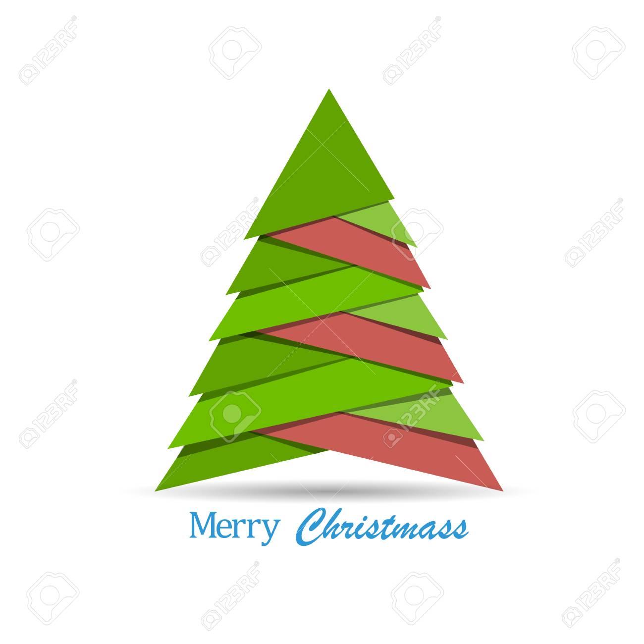 Alberi Di Natale Di Carta.Albero Di Natale Creativo Fatto Da Pezzi Di Carta Stile Origami Carta Di Capodanno