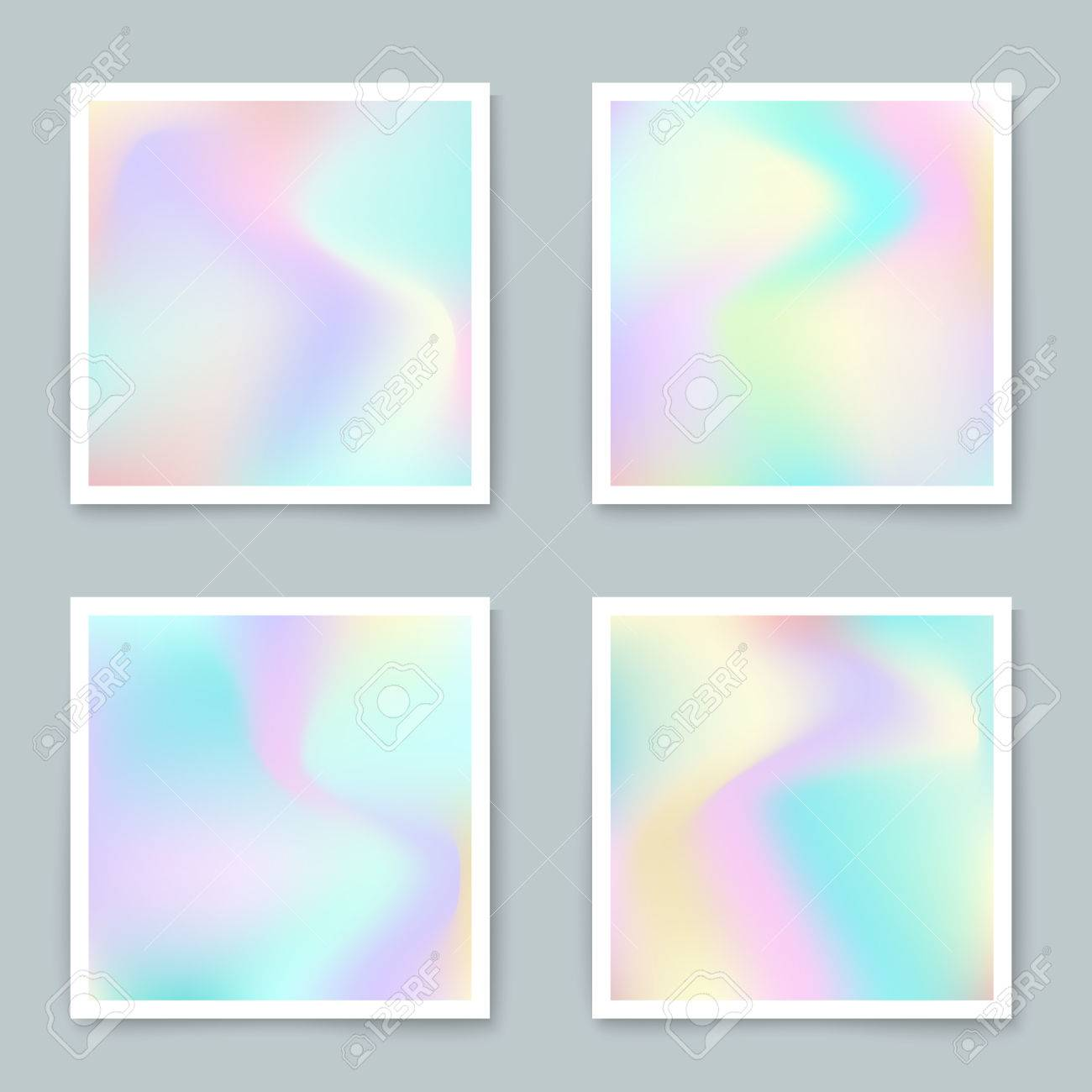 Hologram hipster backgrounds set in pastel colorsctor mesh hologram hipster backgrounds set in pastel colorsctor mesh template design for greeting card kristyandbryce Gallery