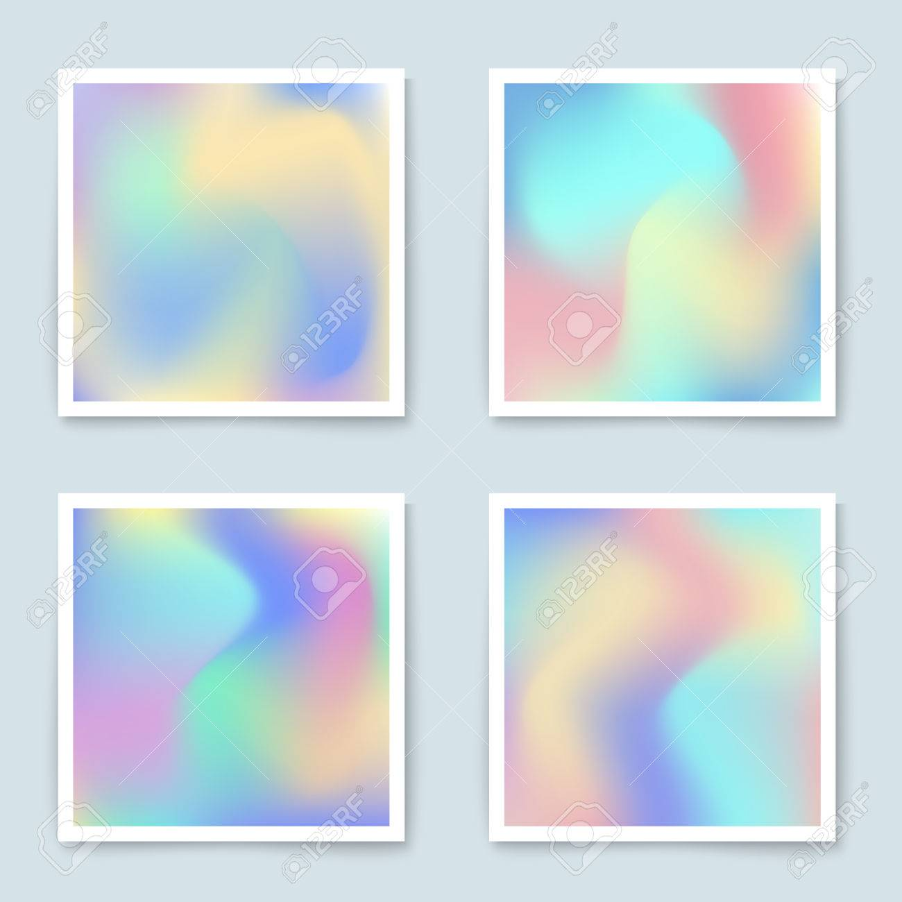 Hologram colorful backgrounds set in pastel colors vector mesh hologram colorful backgrounds set in pastel colors vector mesh template design for greeting card kristyandbryce Gallery