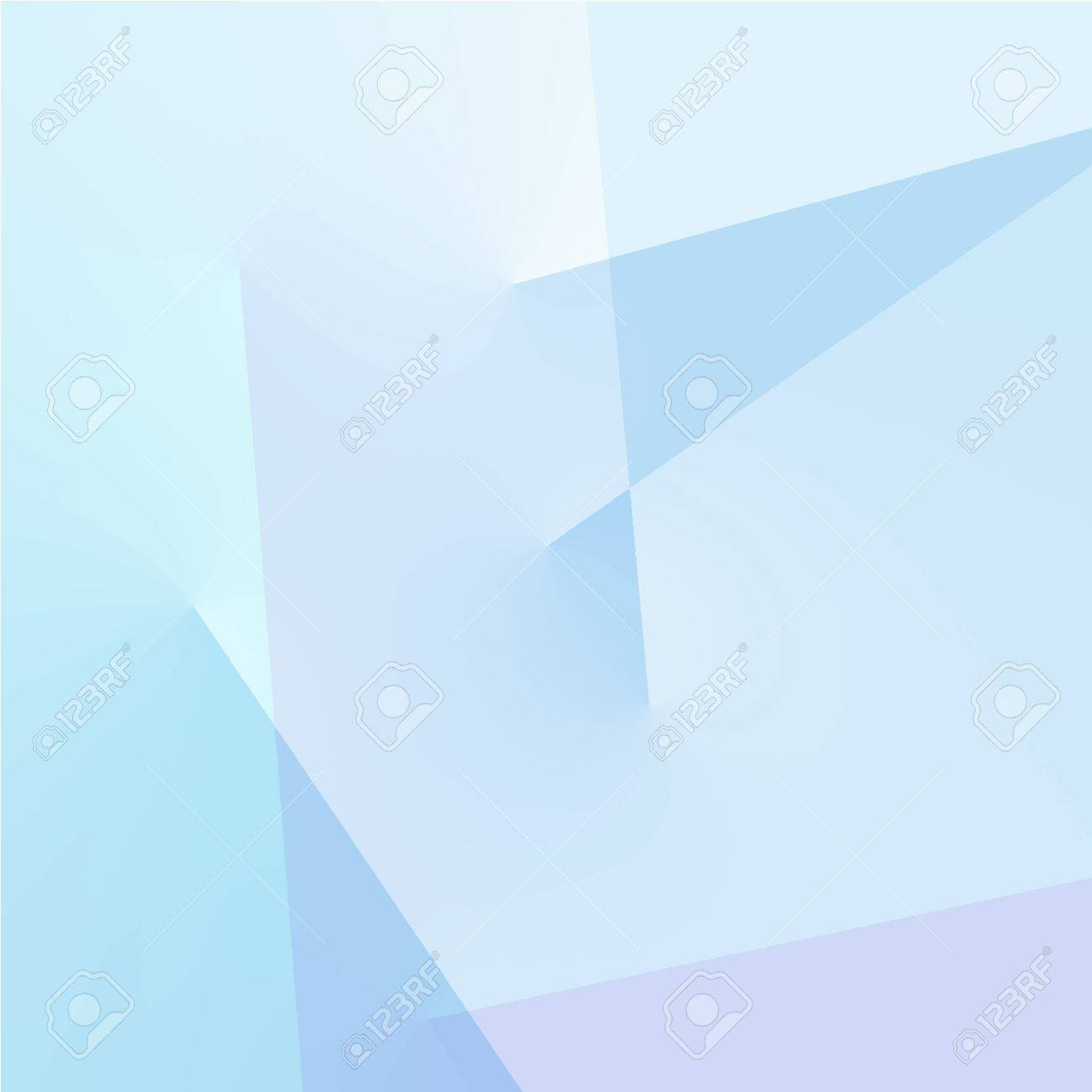 . Abstract blue geometric background with lines in pastel colors
