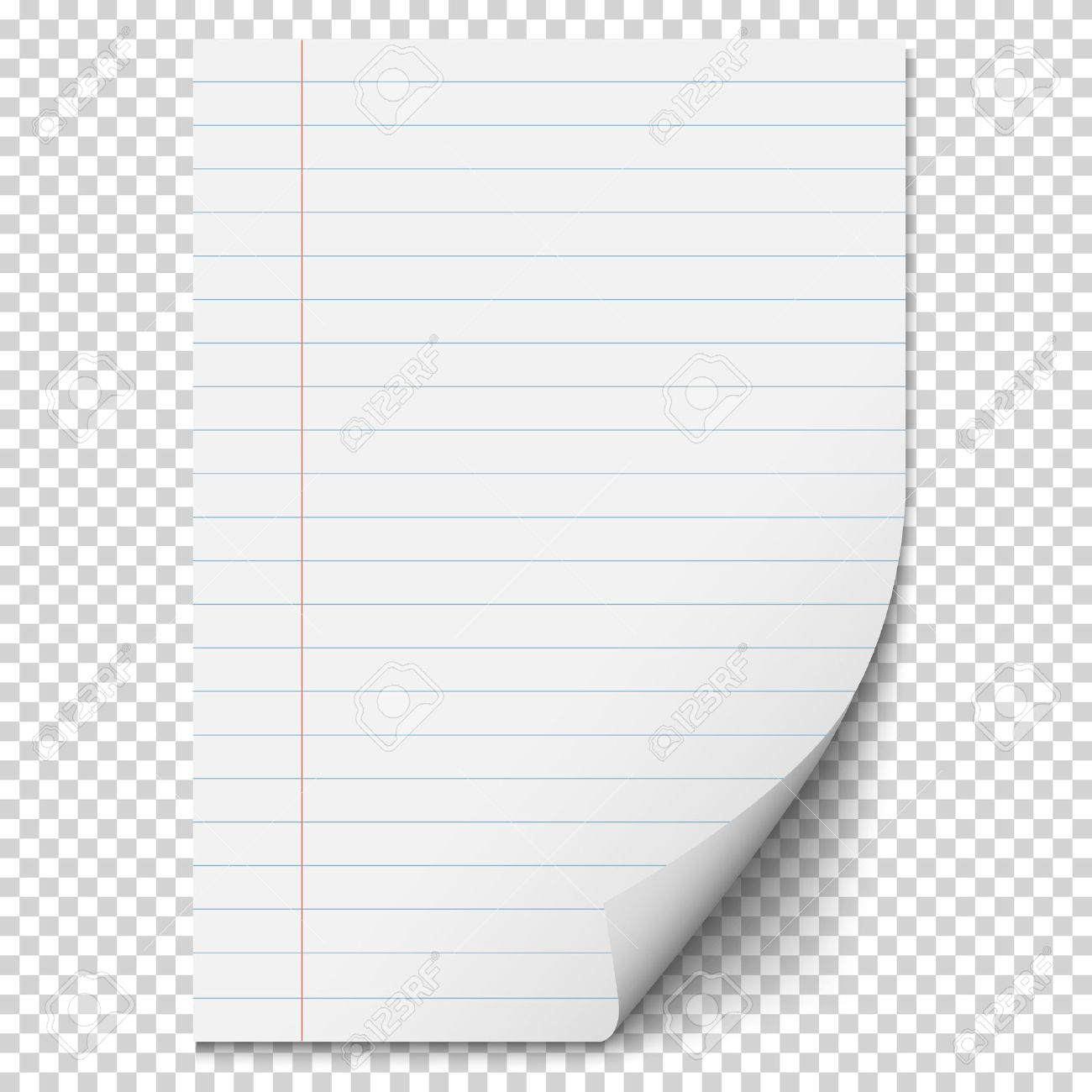 White Blank Paper Sheet With Lines Realistic Blank Folded Page – Blank Sheet of Paper with Lines
