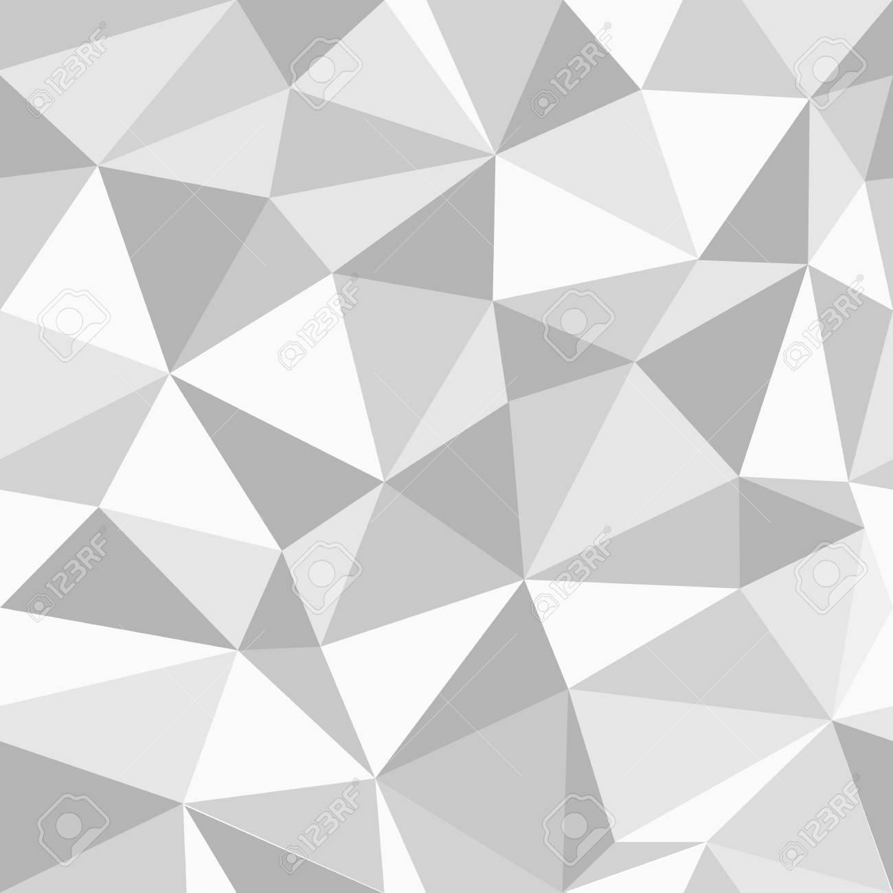 Grey Triangles Seamless Pattern Geometric Wallpaper Vector