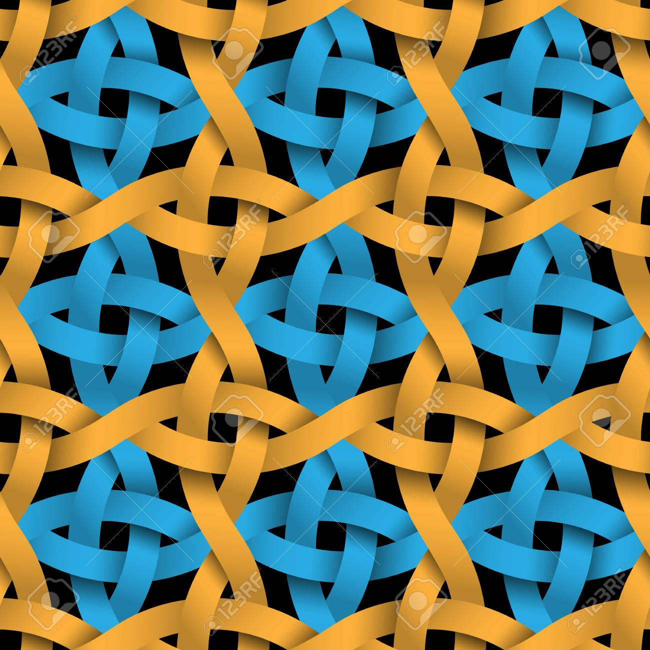 Colored Seamless Pattern Weaving Paper Blue And Yellow Stripes