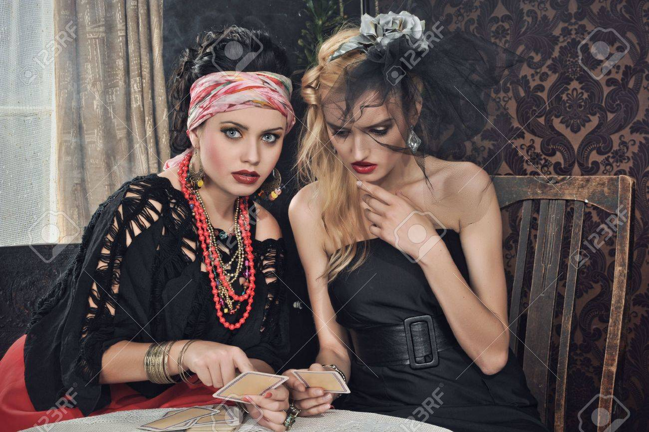 Gypsy fortune-teller cards spells Stock Photo - 14808814