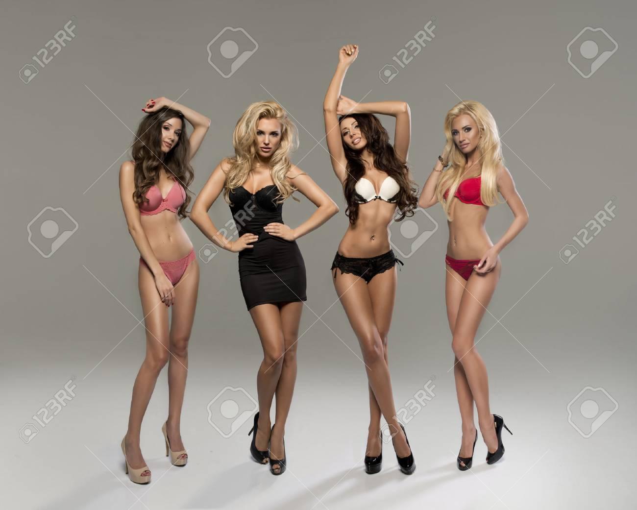 Позы для фото в белье полных девушек