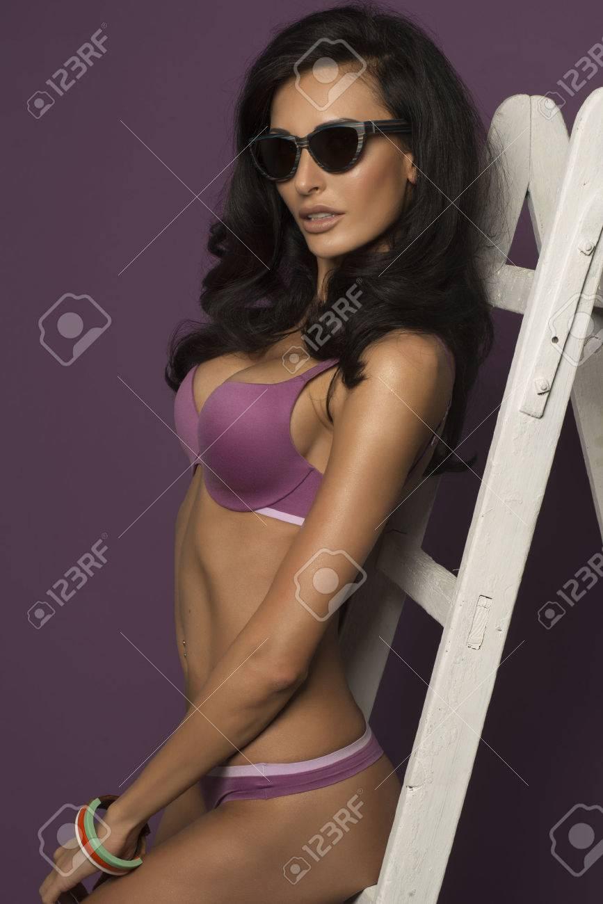 Free photo stock brunette busty