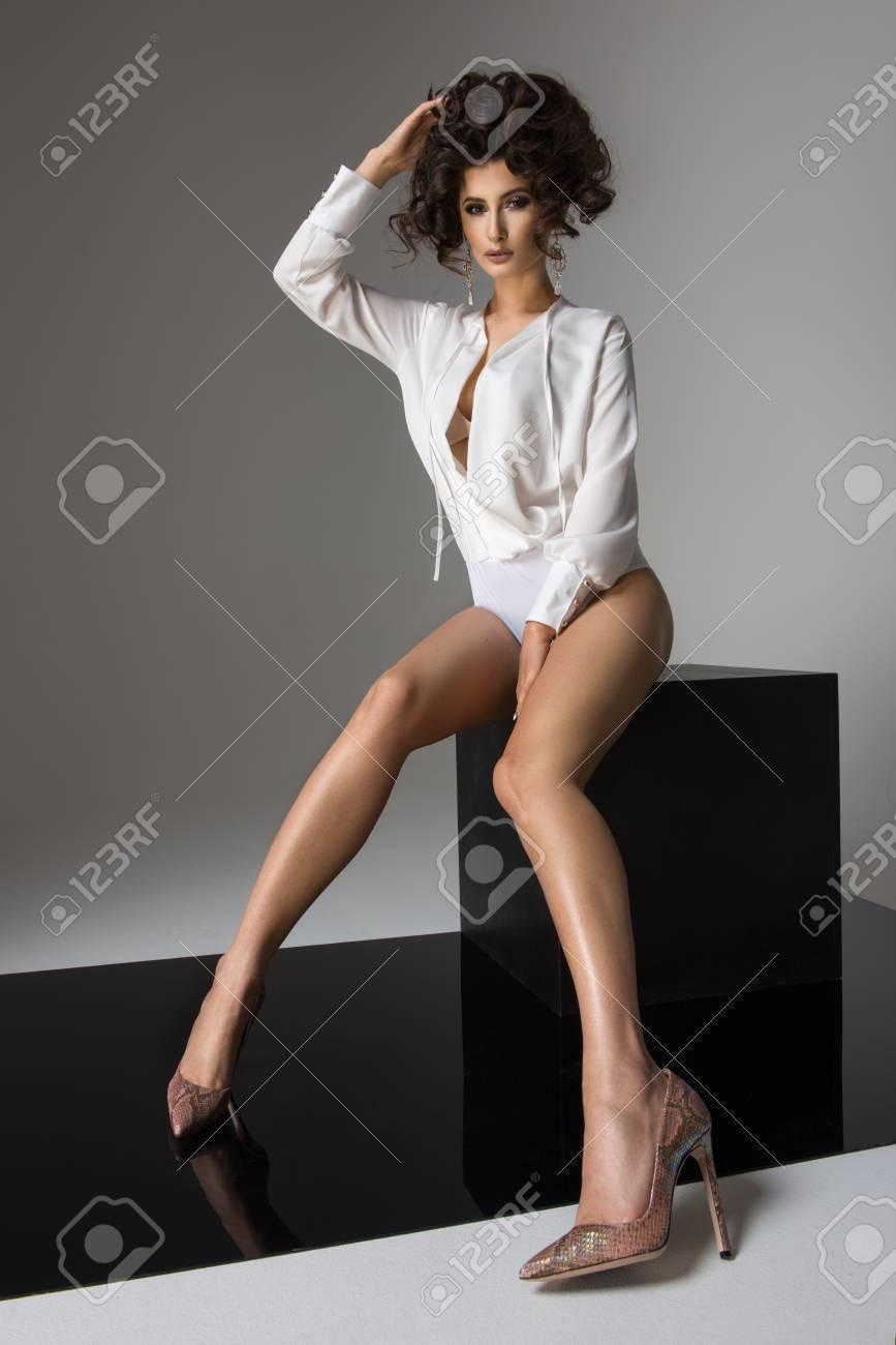 Brunette Long Legs