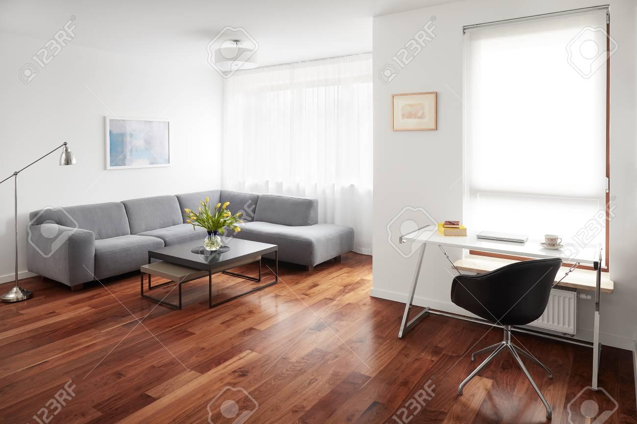 Parfait Salon Moderne, Intérieur Scandinave Banque Du0027images   84627626