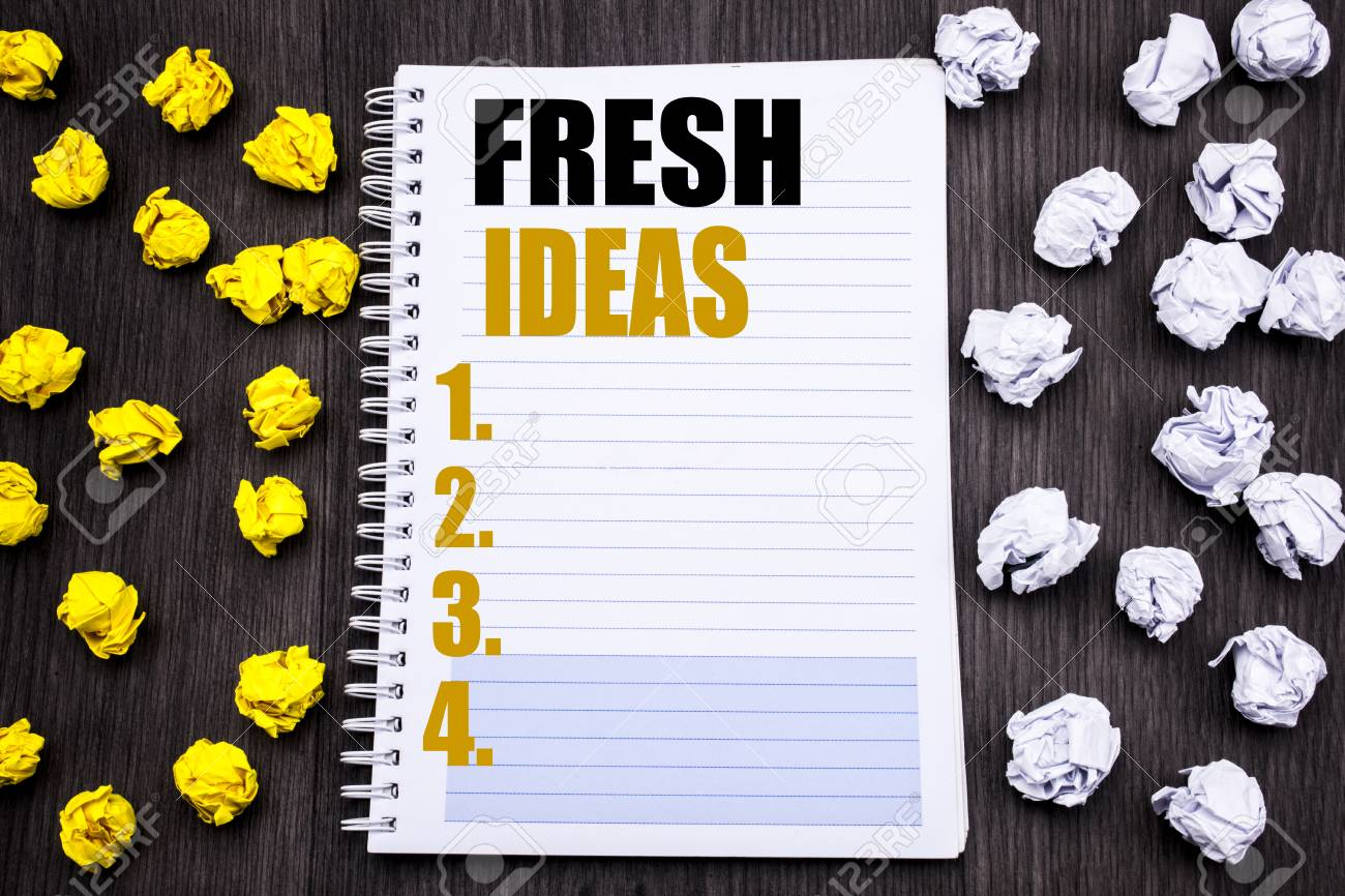 Conceptual Hand Writing Text Caption Showing Fresh Ideas Business