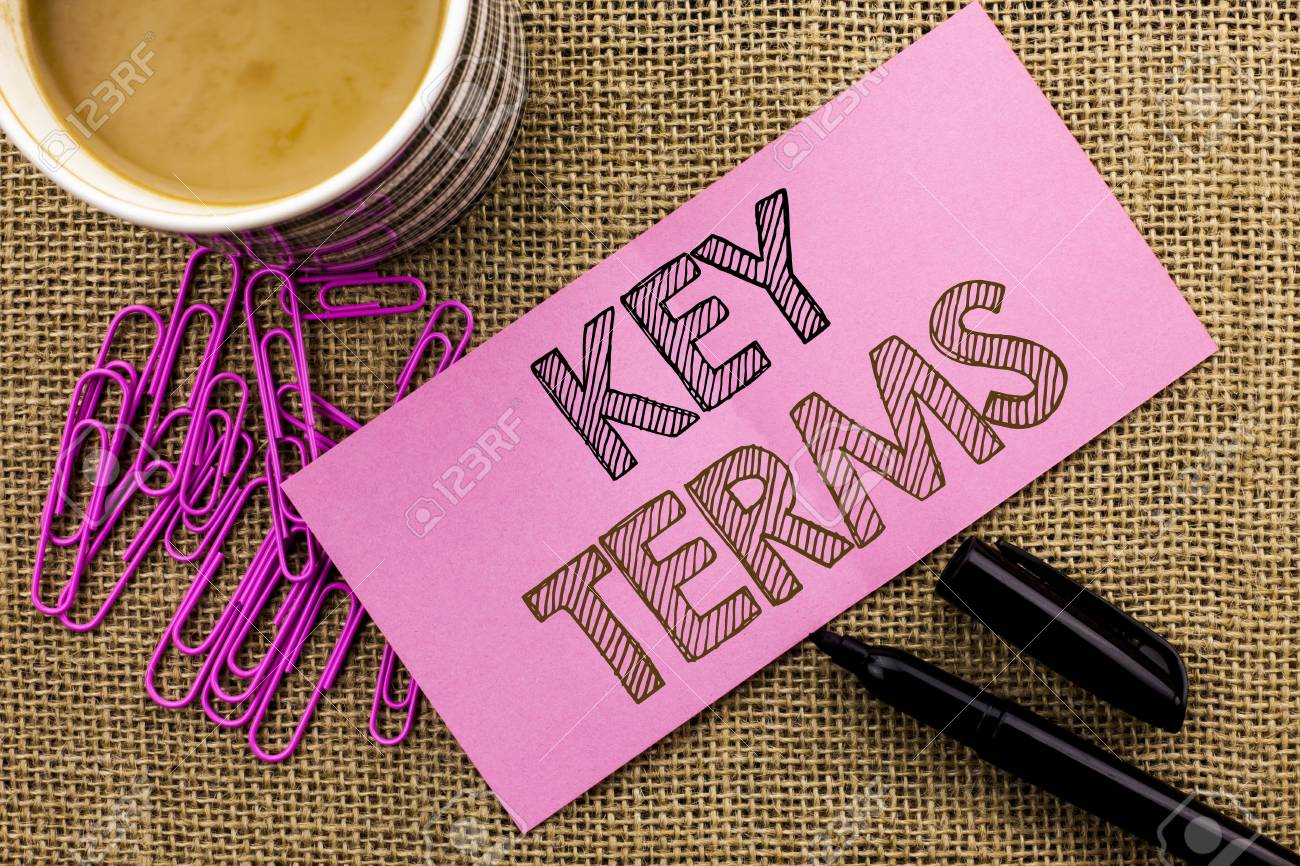 what are key terms in writing