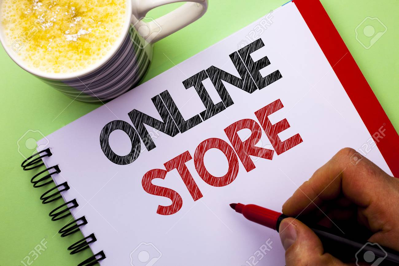 Word writing text Online Store  Business concept for Internet