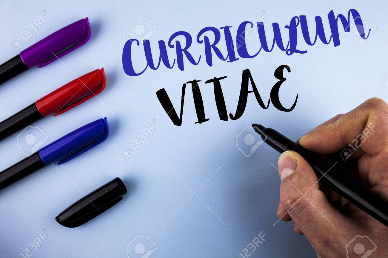Conceptual Hand Writing Showing Curriculum Vitae Business Photo