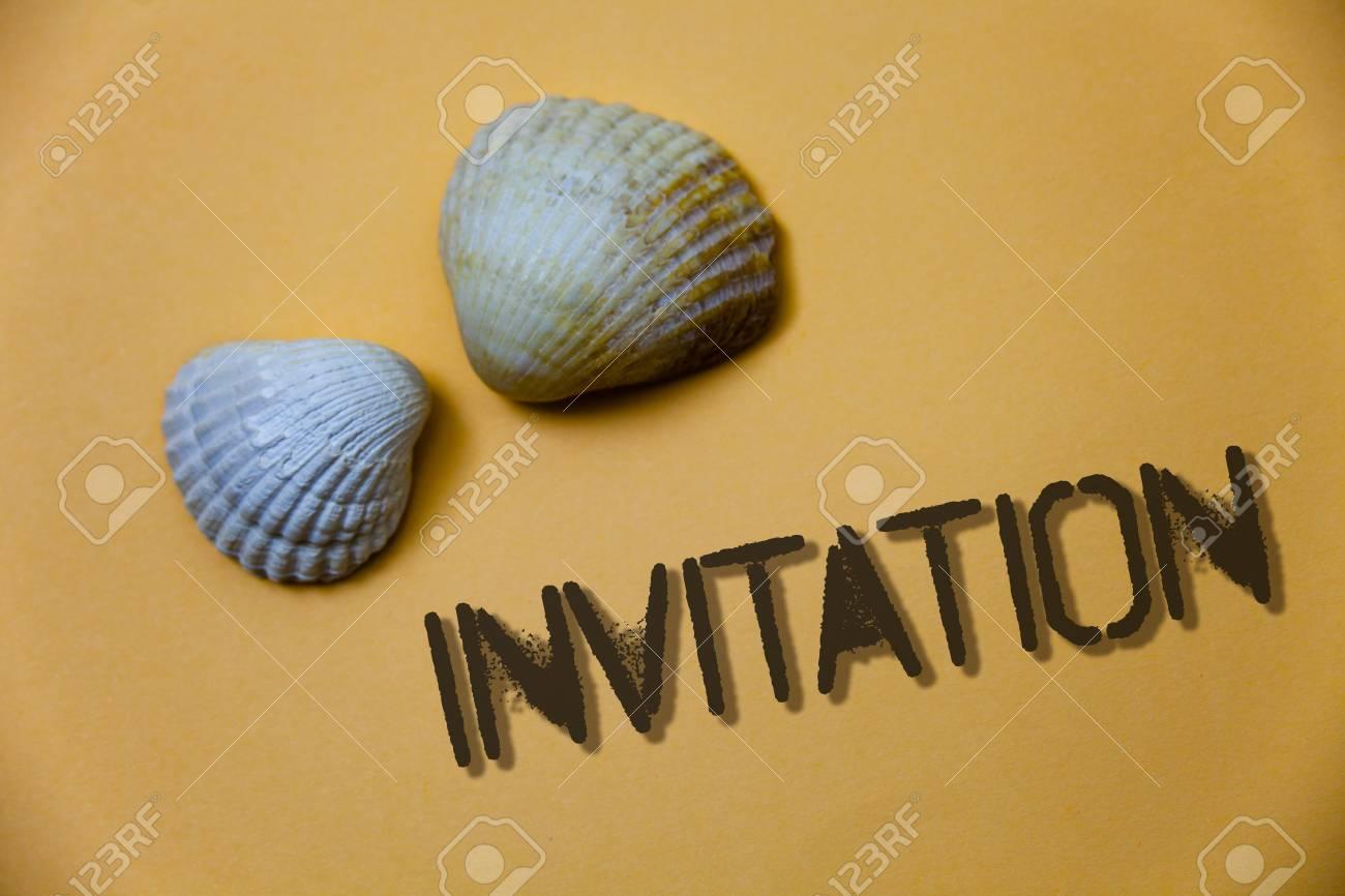 Handwriting text writing invitation concept meaning written stock handwriting text writing invitation concept meaning written or verbal request someone to go somewhere or stopboris Choice Image