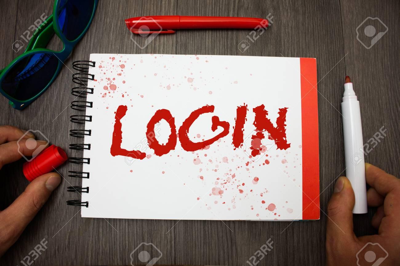 writing login