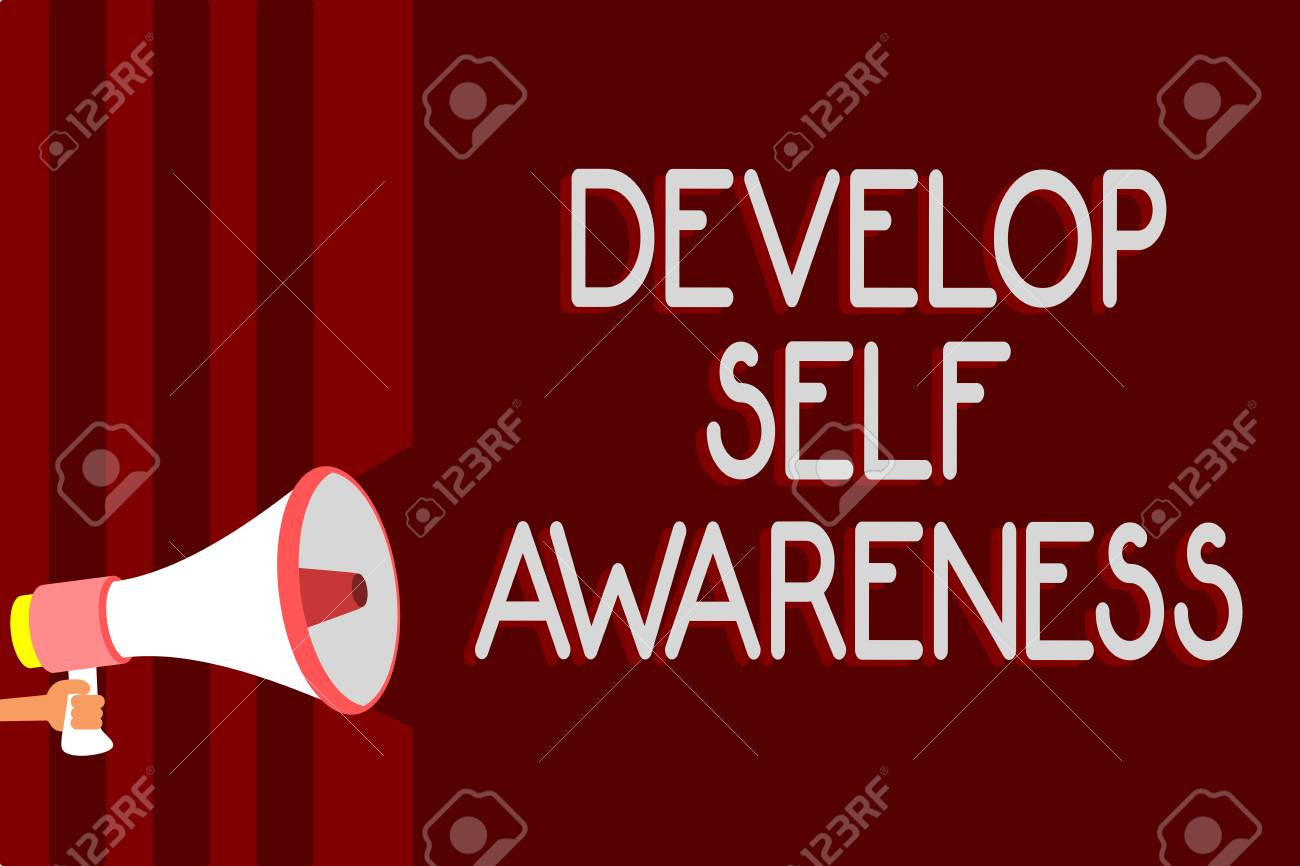 handwriting text develop self awareness concept meaning increase