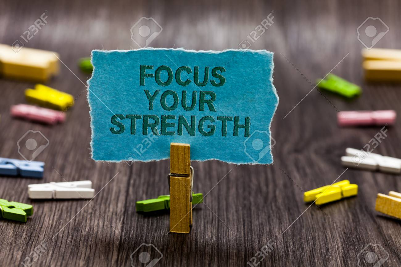 Stock Photo Text sign showing Focus