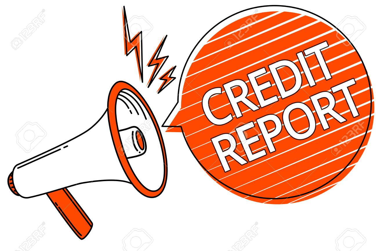 Handwriting text Credit Report  Concept meaning Borrowing Rap