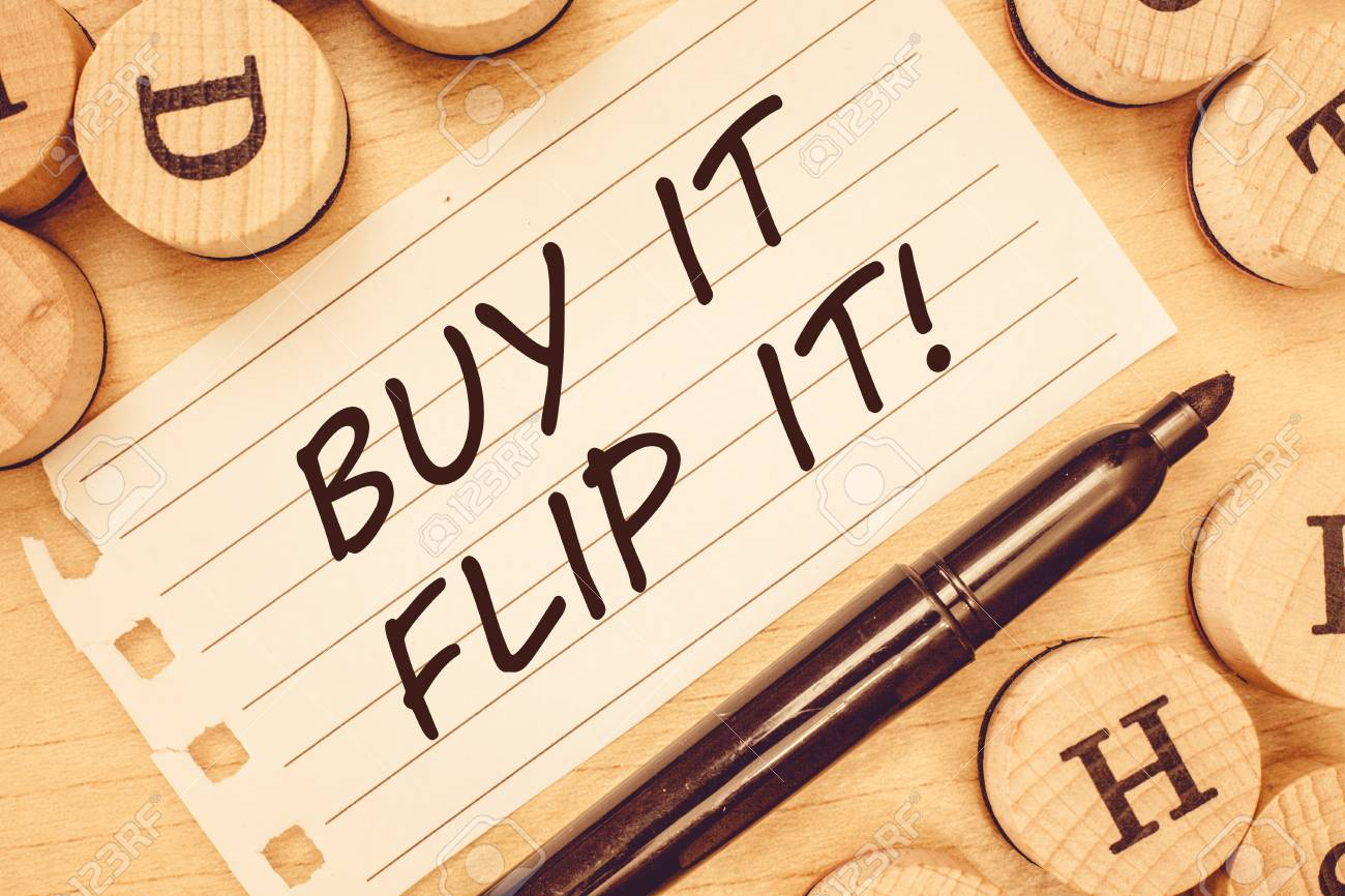 Word writing text Buy It Flip It. Business concept for Buy something fix them up then sell them for more profit. - 107640492