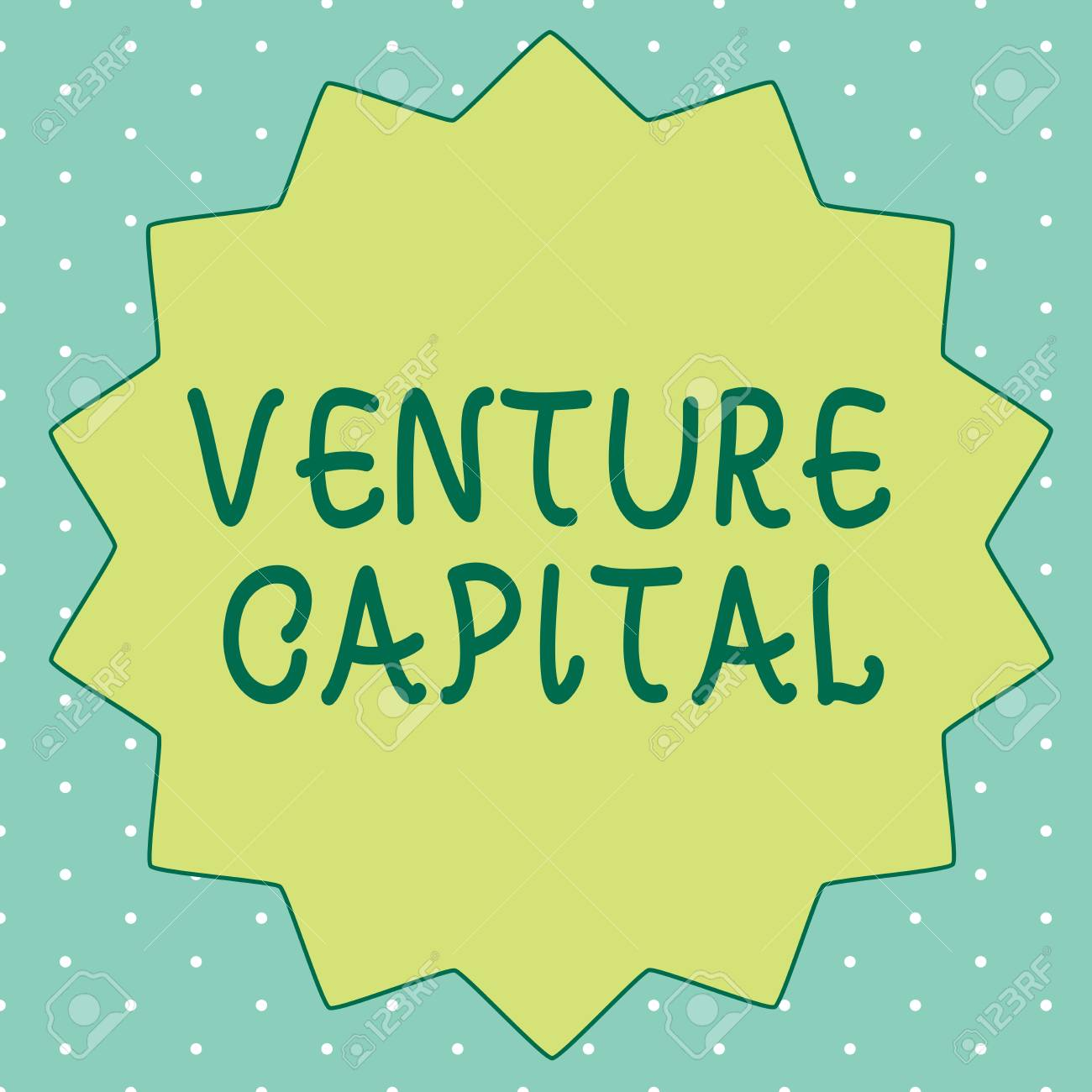 Handwriting text writing Venture Capital  Concept meaning financing