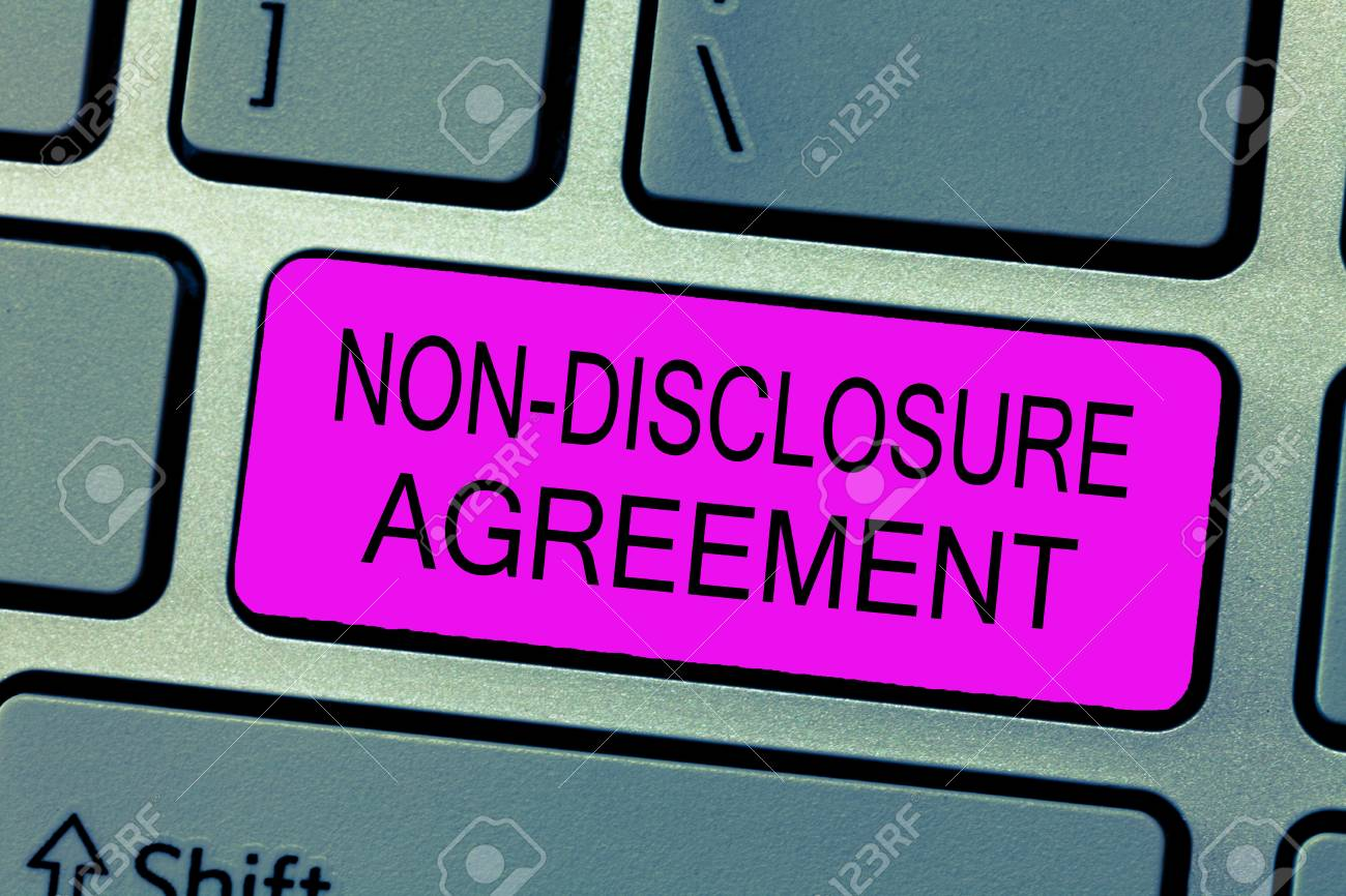 Text Sign Showing Non Disclosure Agreement Conceptual Photo Stock
