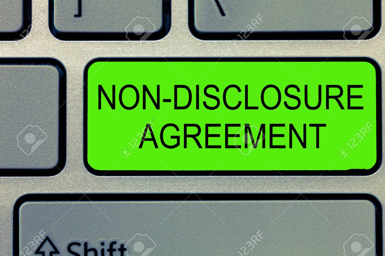 Conceptual Hand Writing Showing Non Disclosure Agreement Business