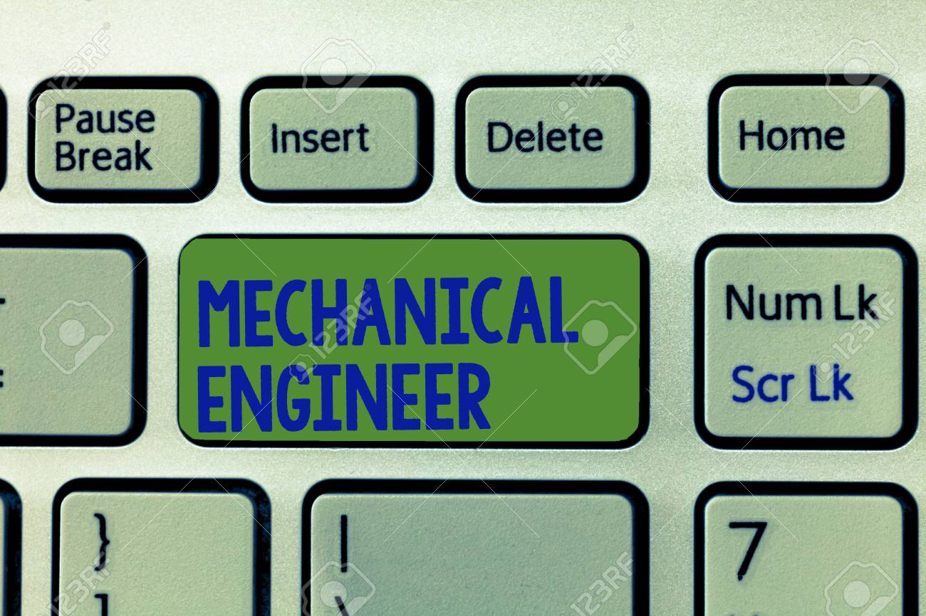 Writing note showing Mechanical Engineer  Business photo showcasing