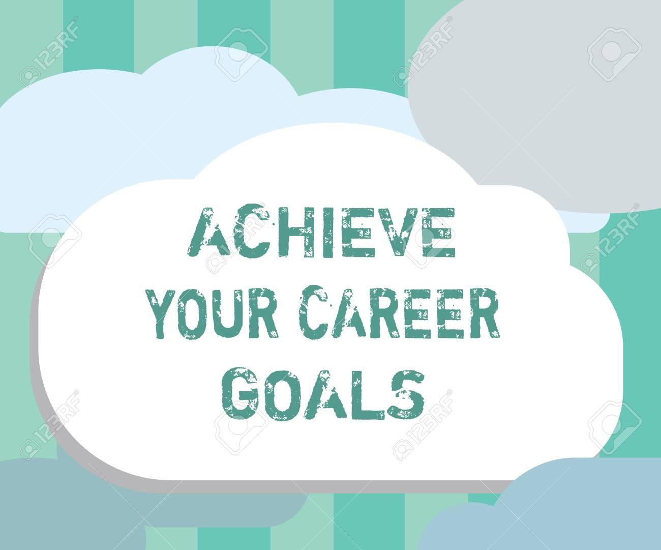 writing career goals