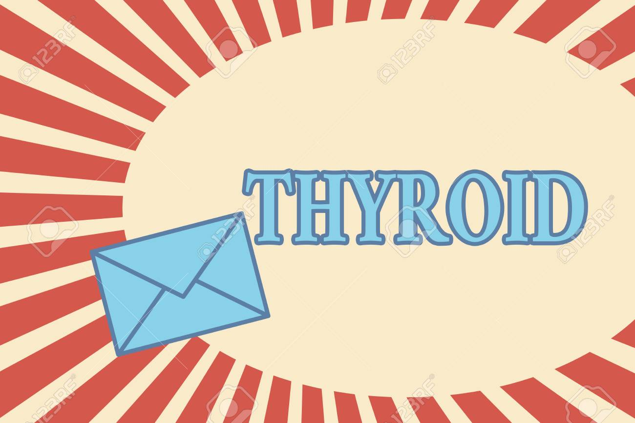 Handwriting Text Thyroid Concept Meaning Gland In Neck Secretes
