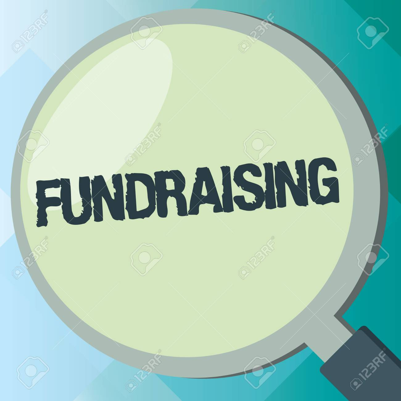 Handwriting text Fundraising  Concept meaning Seeking of financial