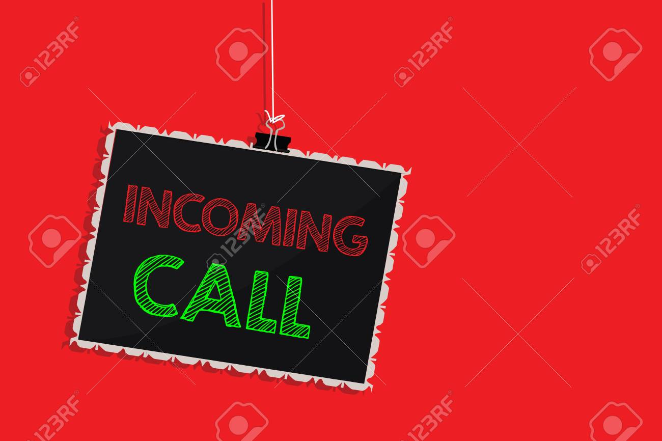 Handwriting text writing Incoming Call  Concept meaning Inbound