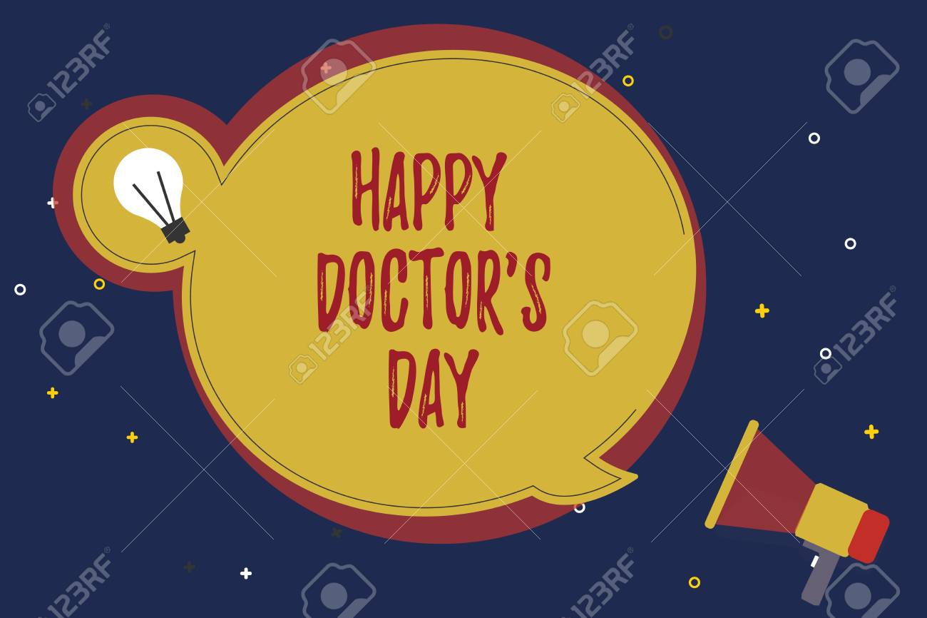 word writing text happy doctor s is day business concept for