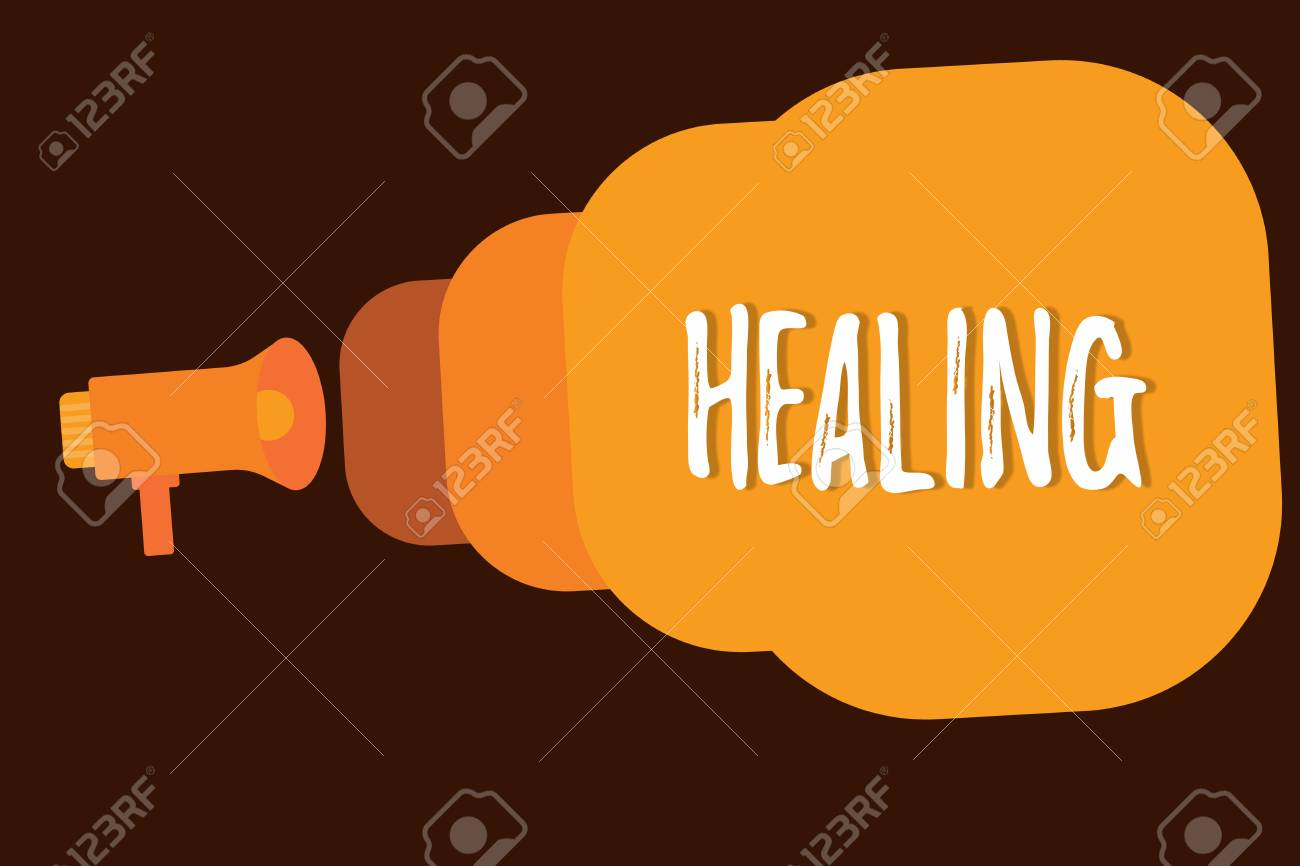 Handwriting text writing Healing  Concept meaning process of