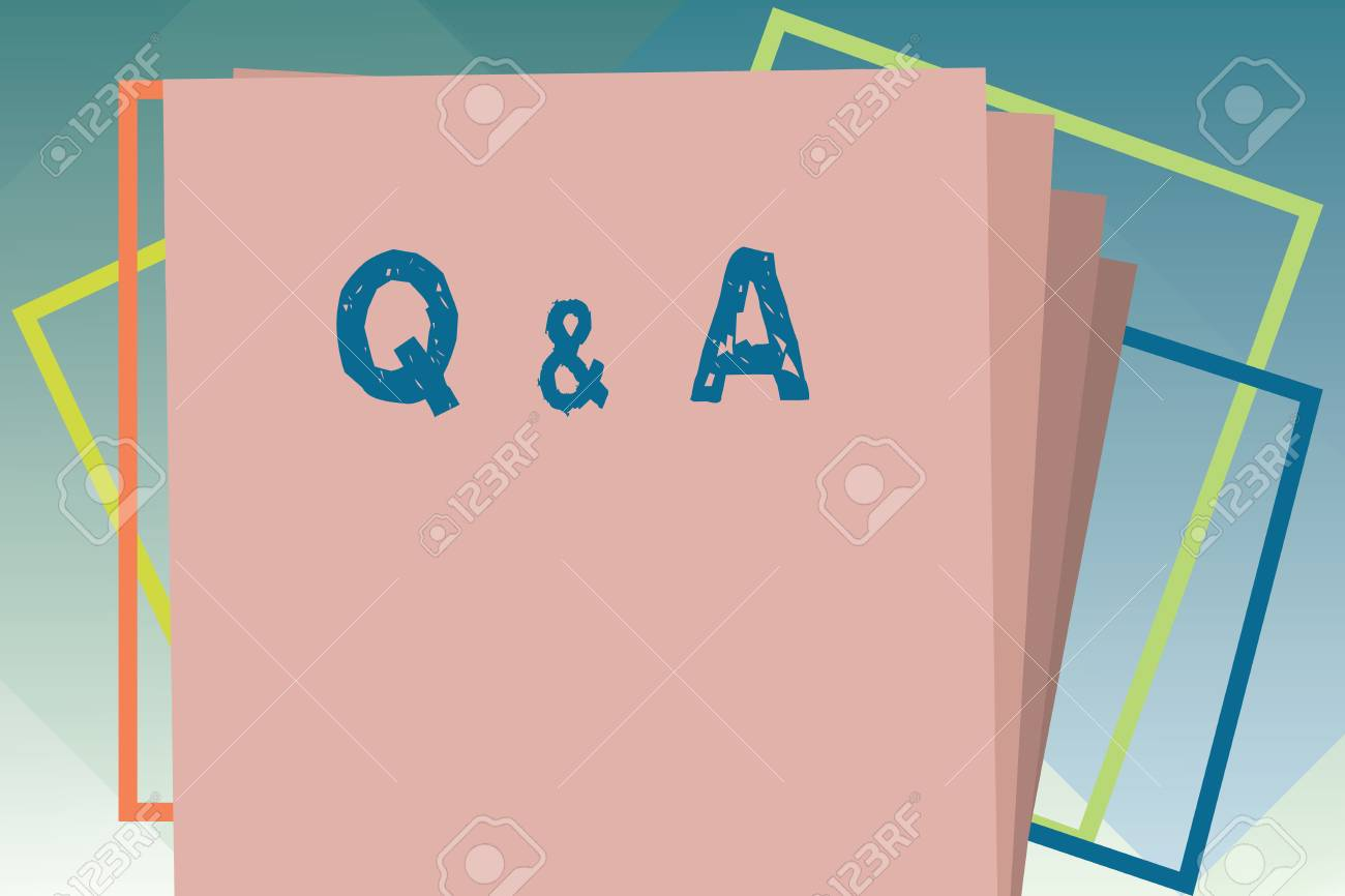 Handwriting Text Q And A Concept Meaning Exchange Of Questions Stock Photo Picture And Royalty Free Image Image 111294378