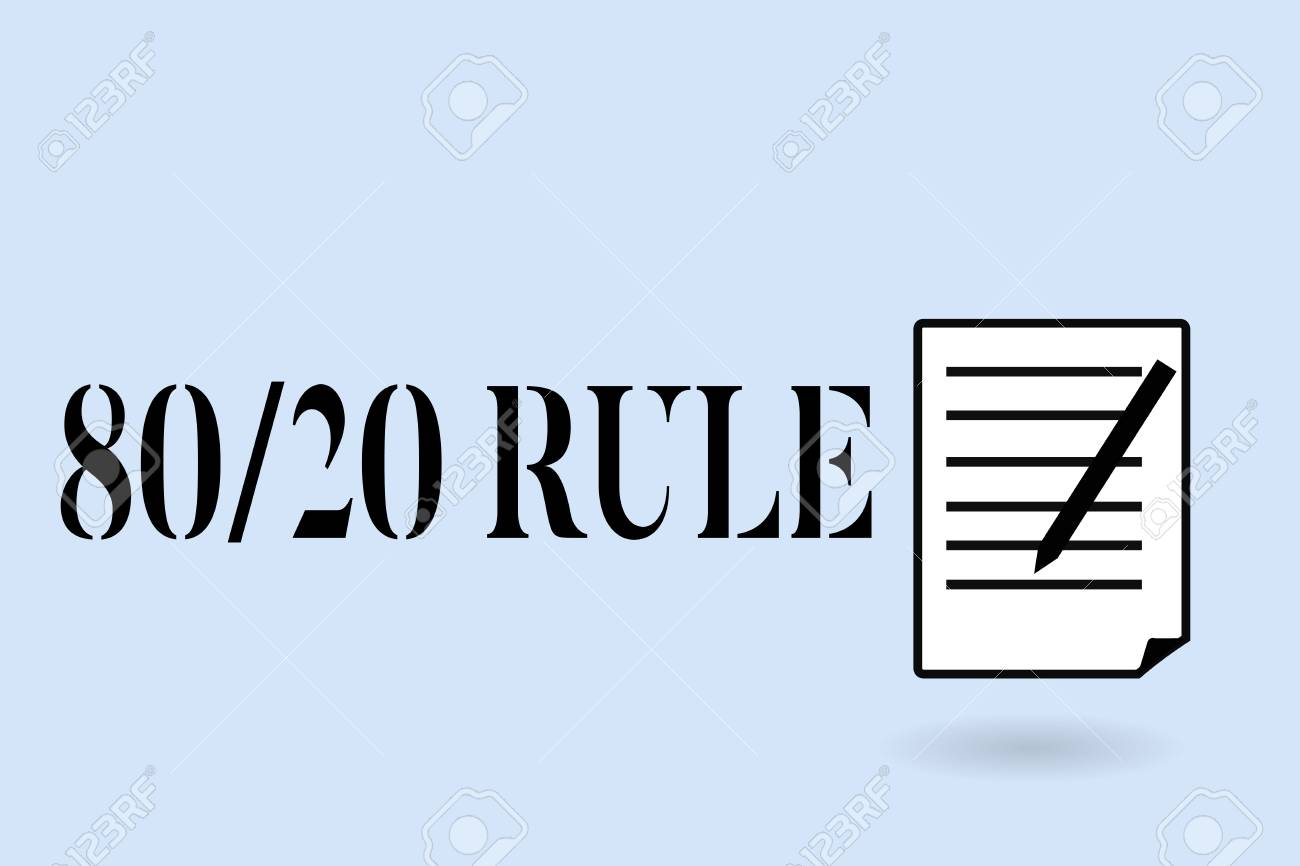 Handwriting text writing 80 20 Rule  Concept meaning Pareto principle