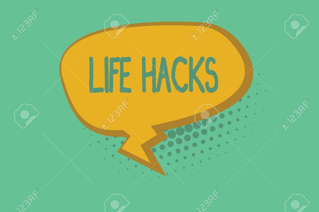 Text sign showing Life Hacks  Conceptual photo Strategy technique