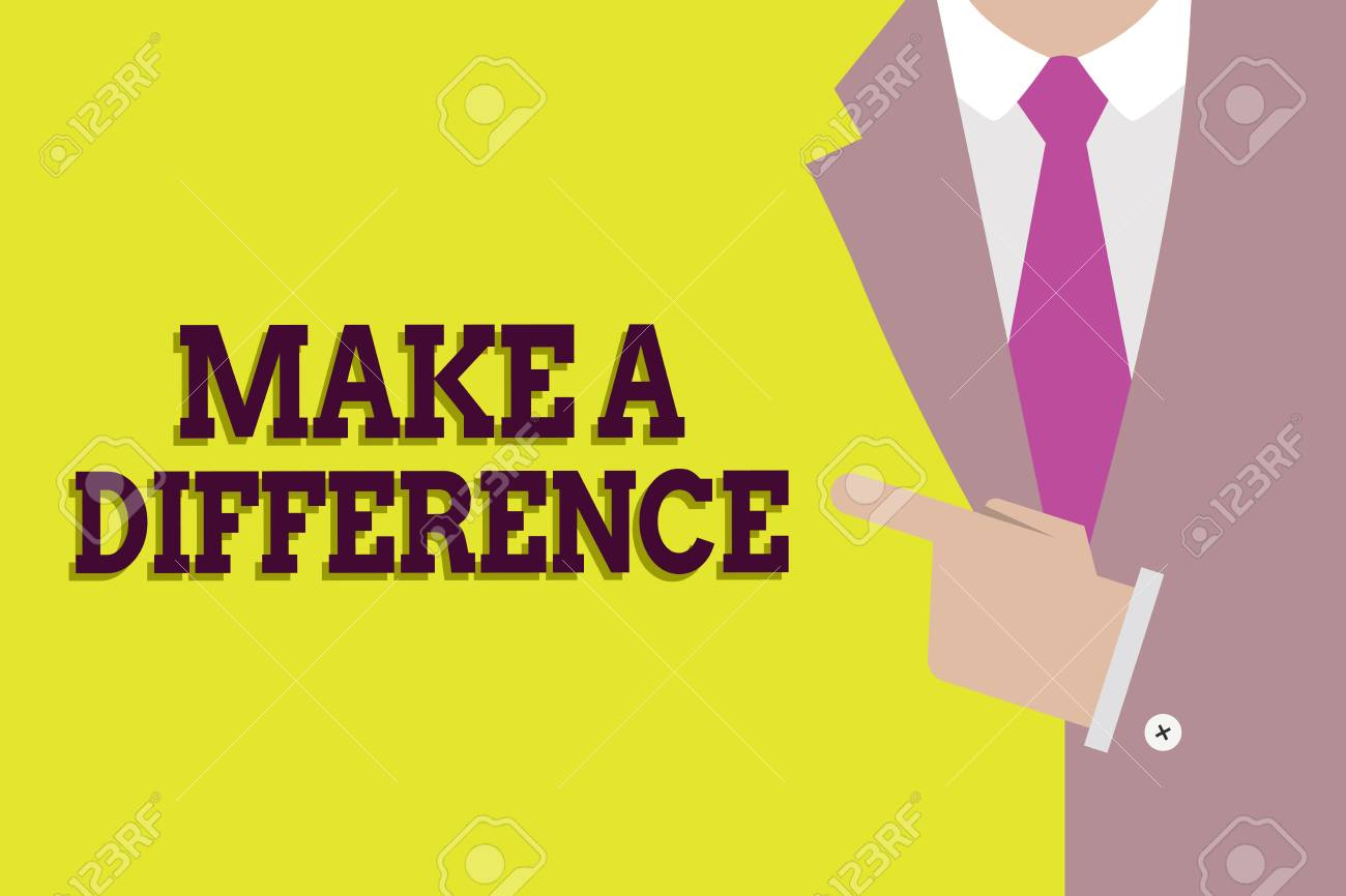 Handwriting text Make A Difference  Concept meaning Mark an effect