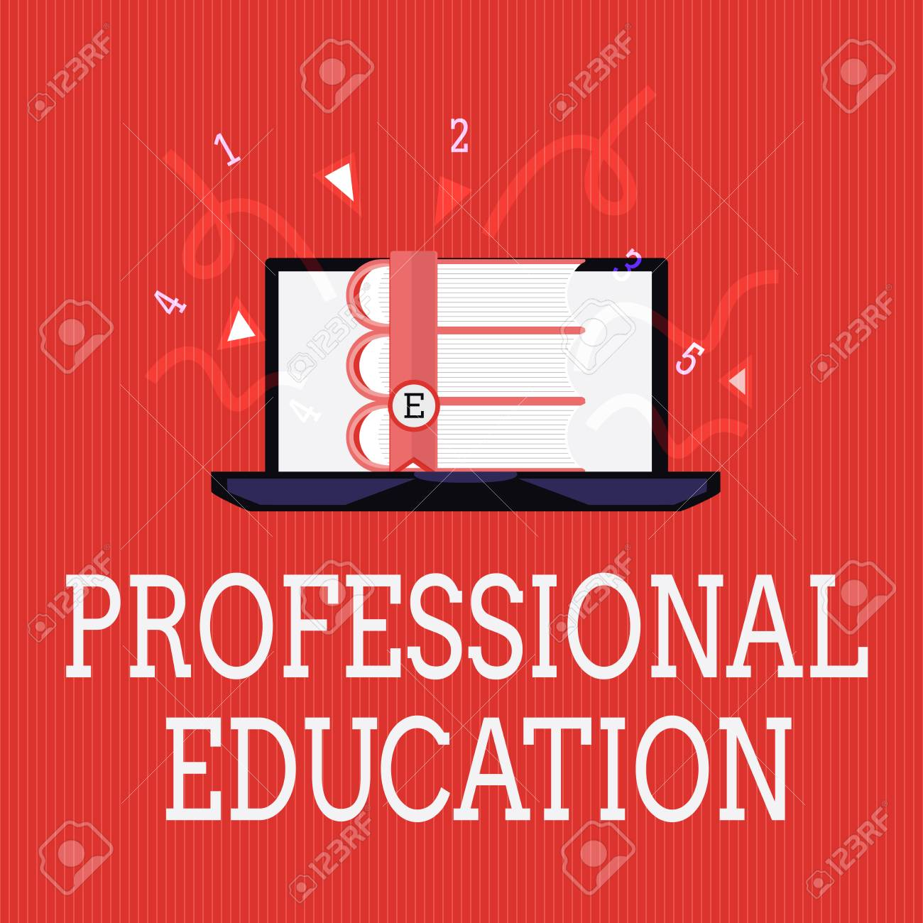 Writing note showing Professional Education  Business photo showcasing