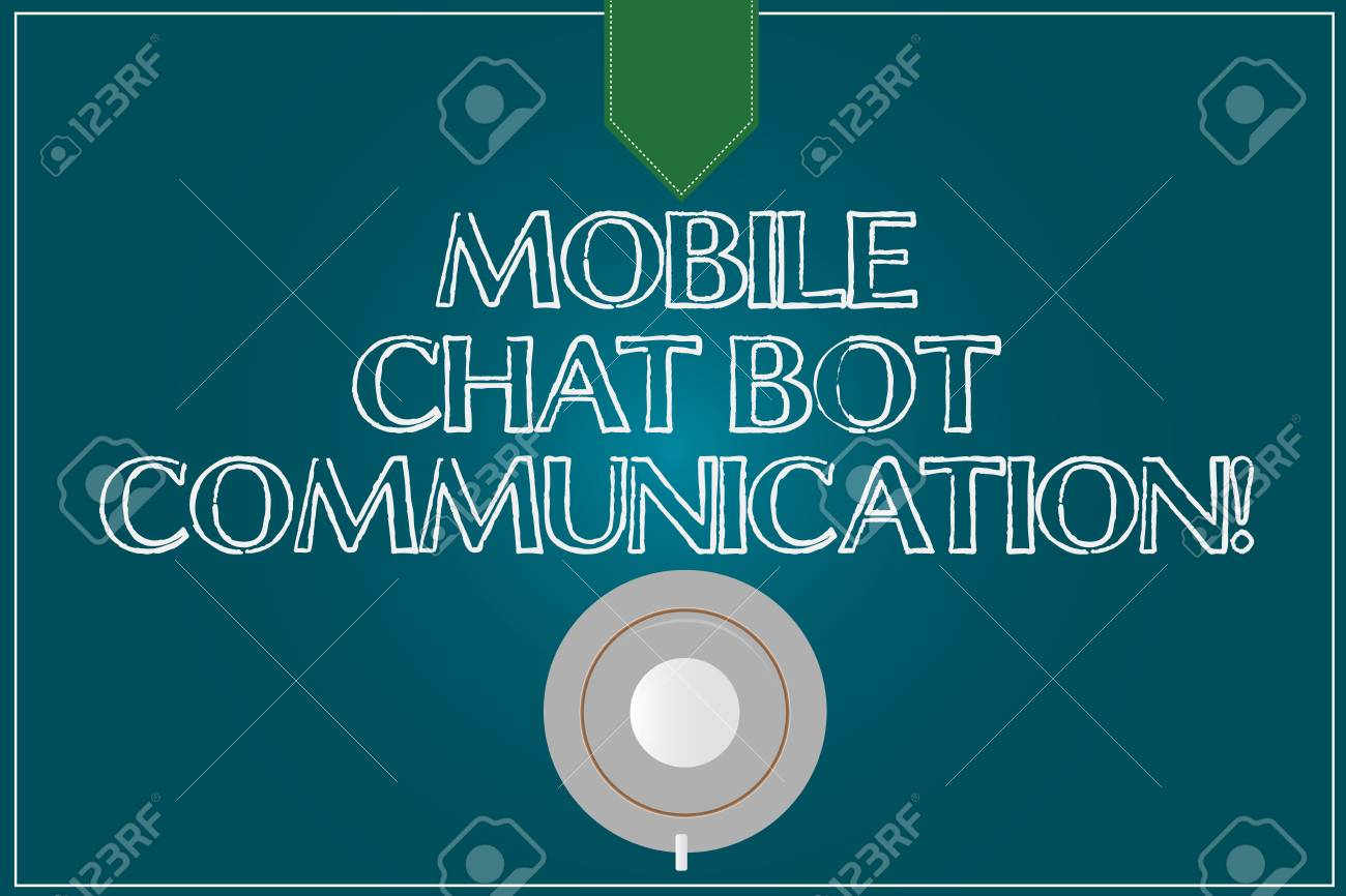 Text sign showing Mobile Chat Bot Communication. Conceptual photo Artificial Intelligence Digital service Coffee Cup Saucer Top View photo Reflection on Blank Color Snap Planner - 112830310