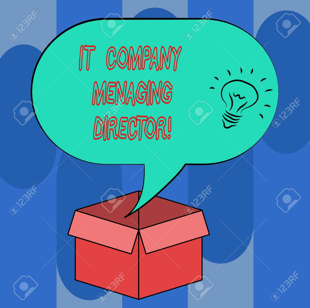 Handwriting text It Company Managing Director  Concept meaning