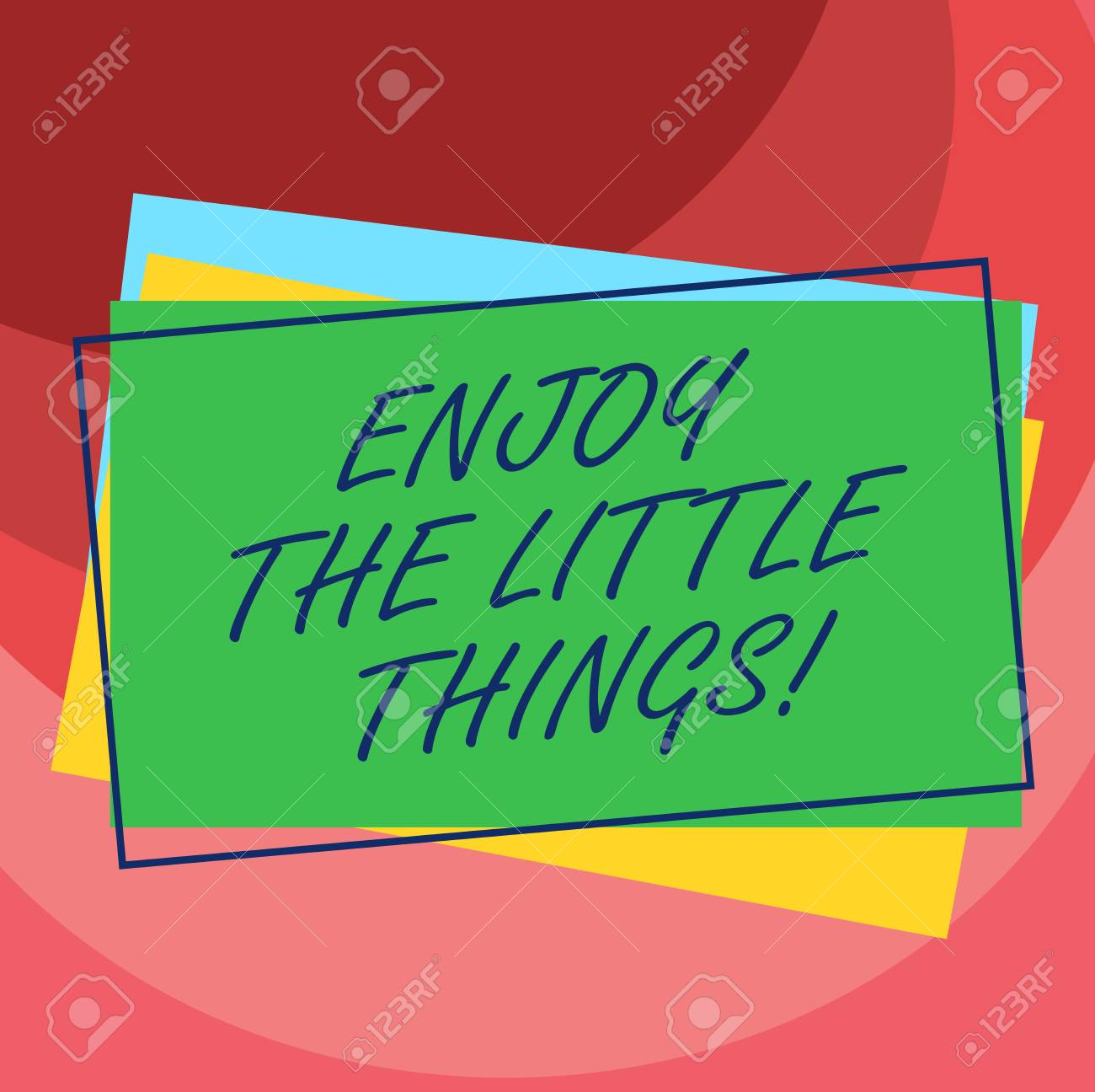 Handwriting Text Enjoy The Little Things Concept Meaning Get