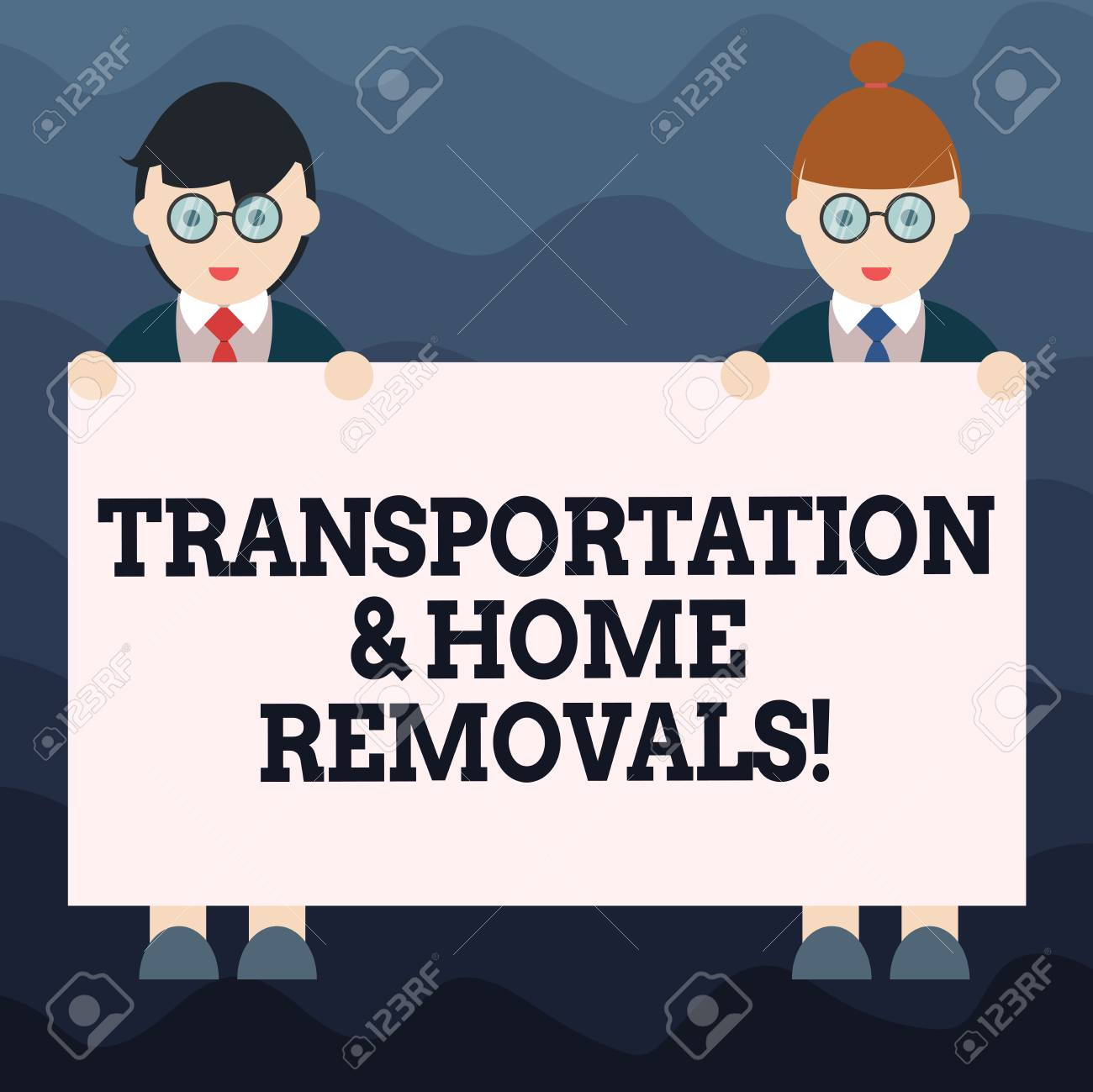 Writing note showing Transportation And Home Removals  Business