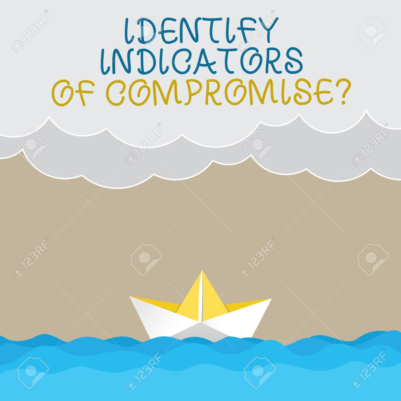 Handwriting text writing Identify Indicators Of Compromise  Concept