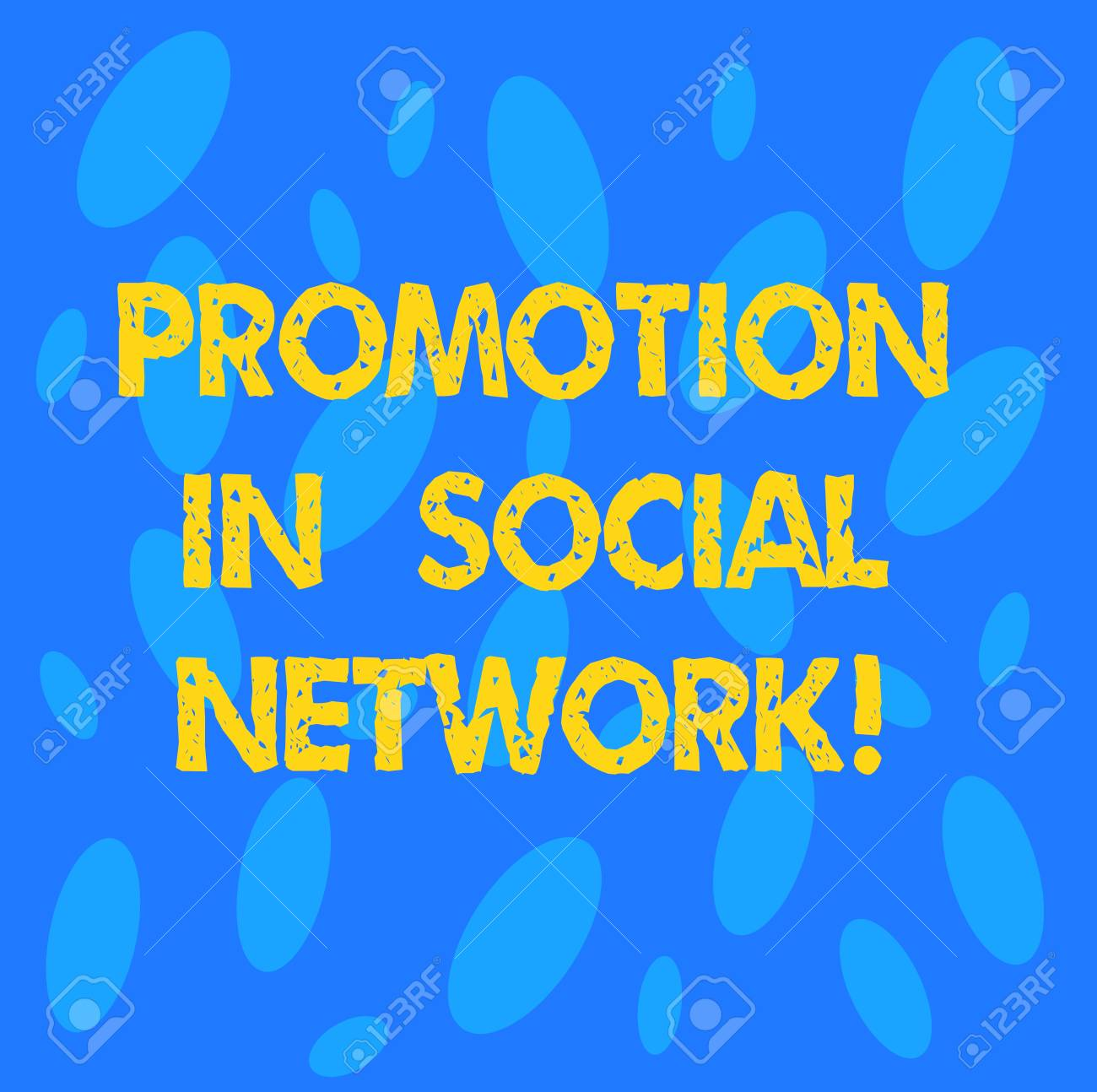 Handwriting text Promotion In Social Network  Concept meaning