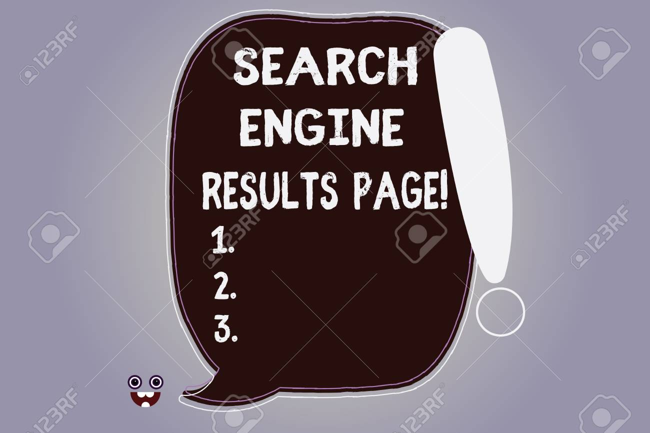 Word writing text Search Engine Results Page  Business concept
