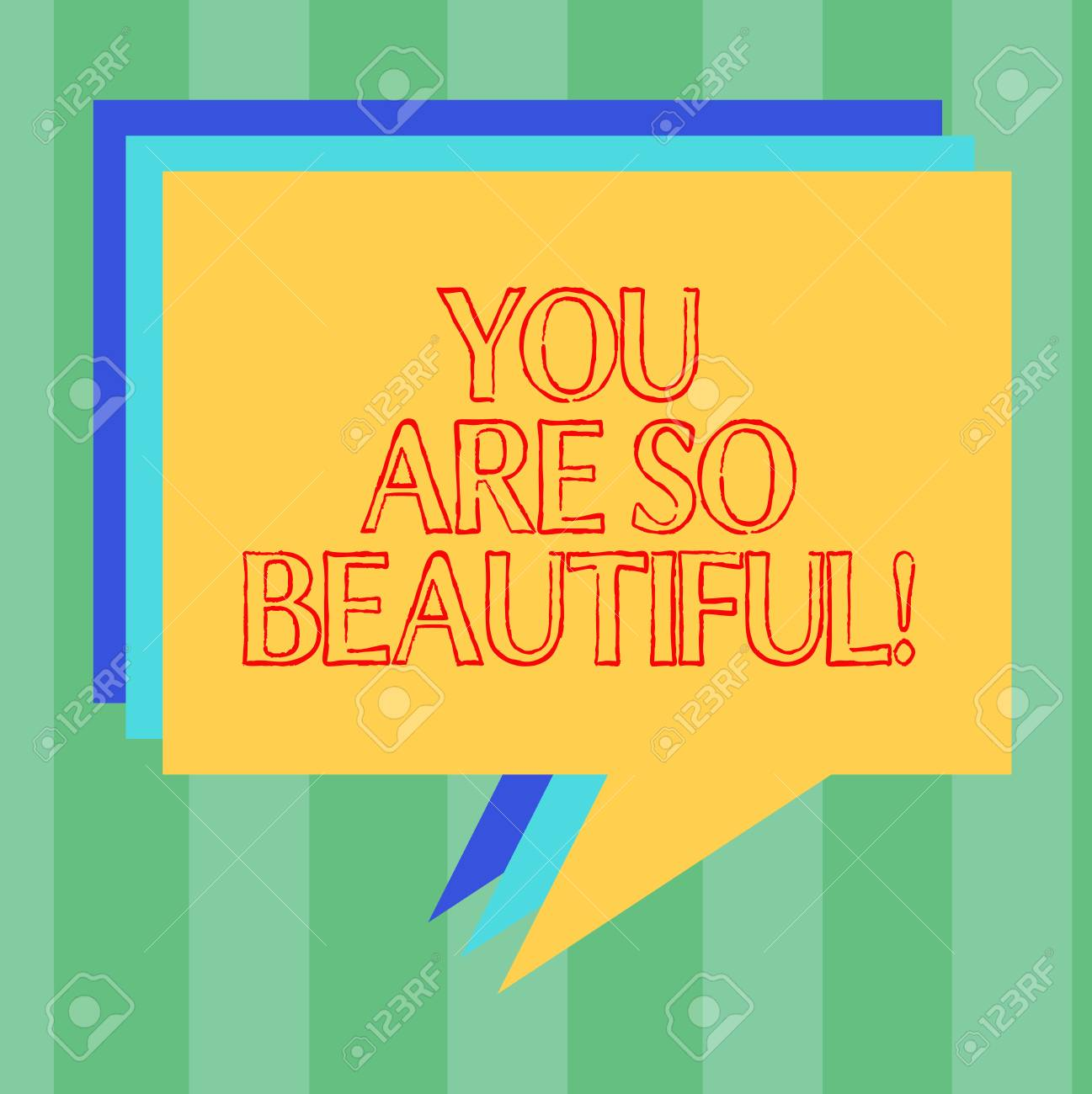 Handwriting Text Writing You Are So Beautiful. Concept Meaning ...