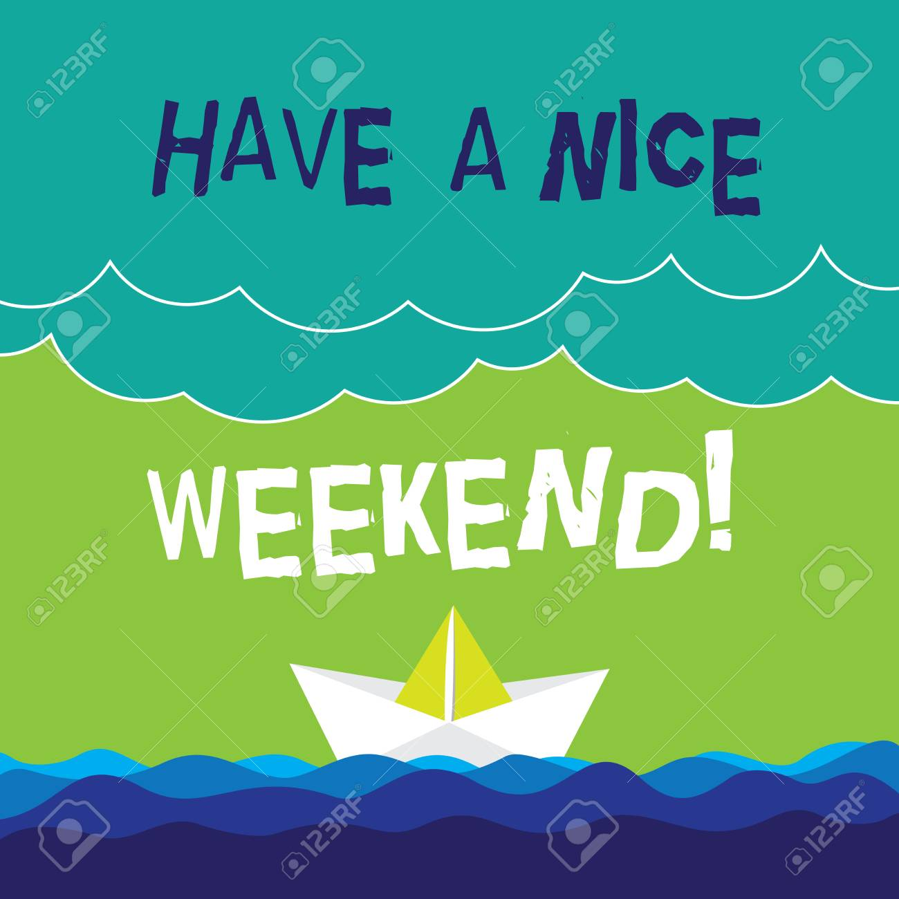 Text Sign Showing Have A Nice Weekend Conceptual Photo Wish Stock