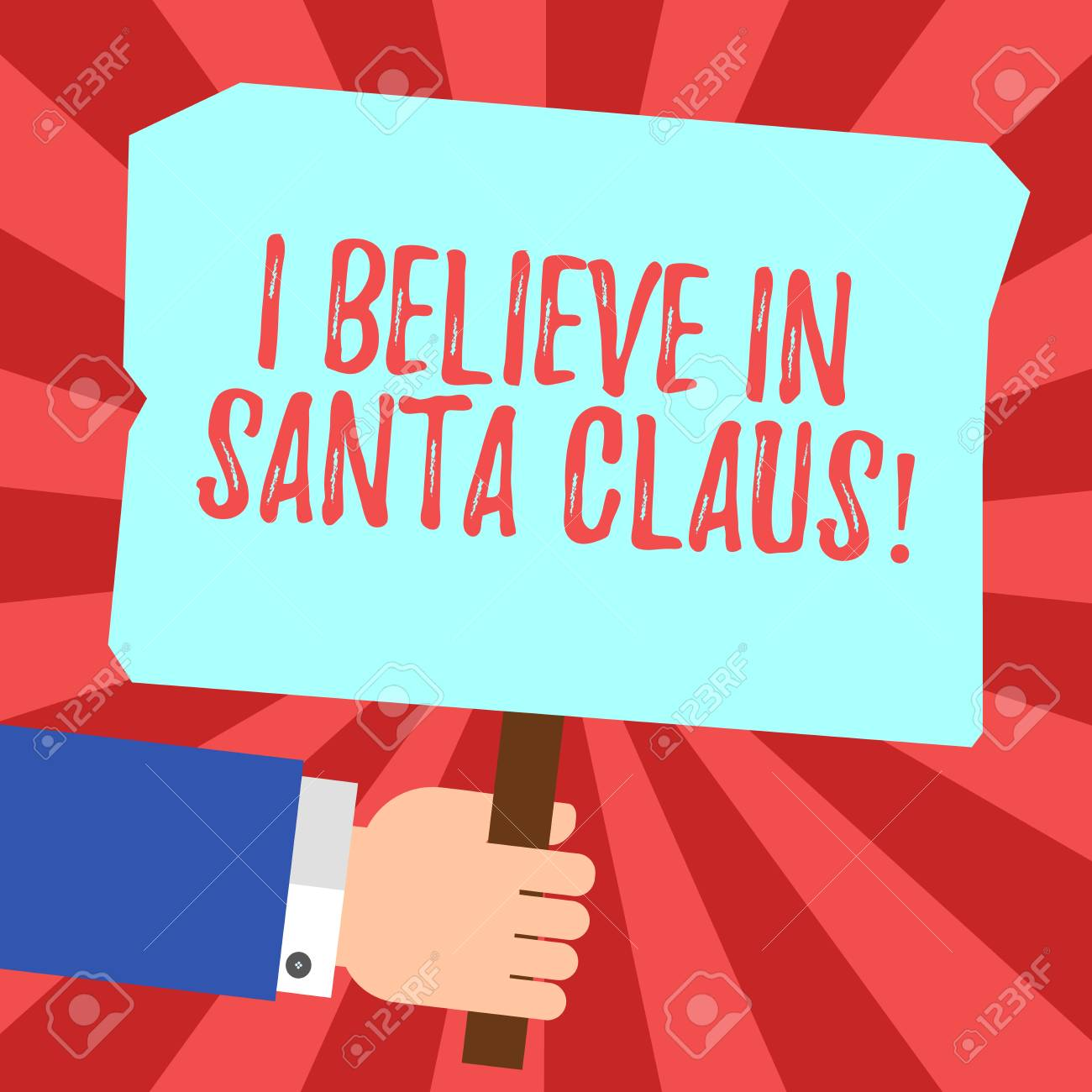 I Believe In Christmas.Handwriting Text I Believe In Santa Claus Concept Meaning To