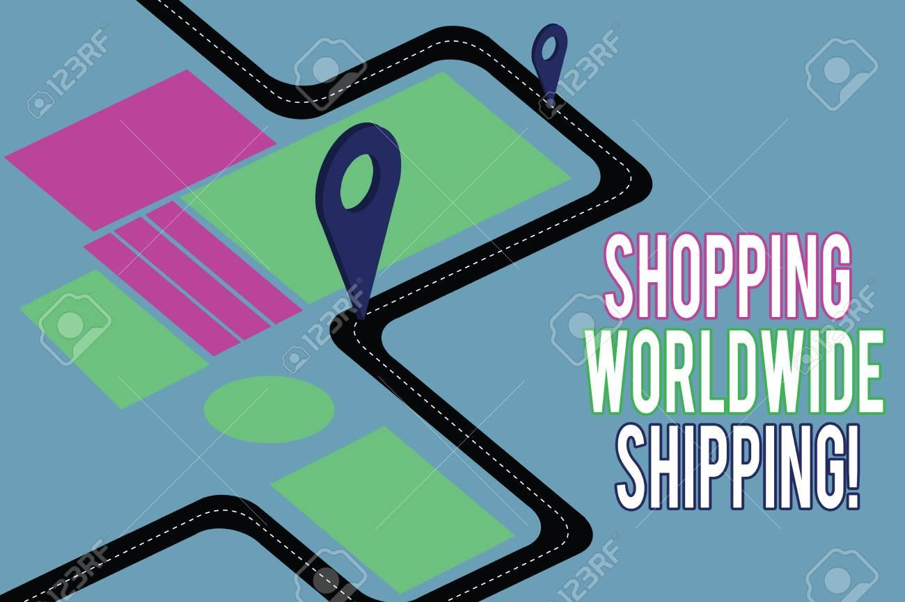 Handwriting text writing Shopping Worldwide Shipping  Concept